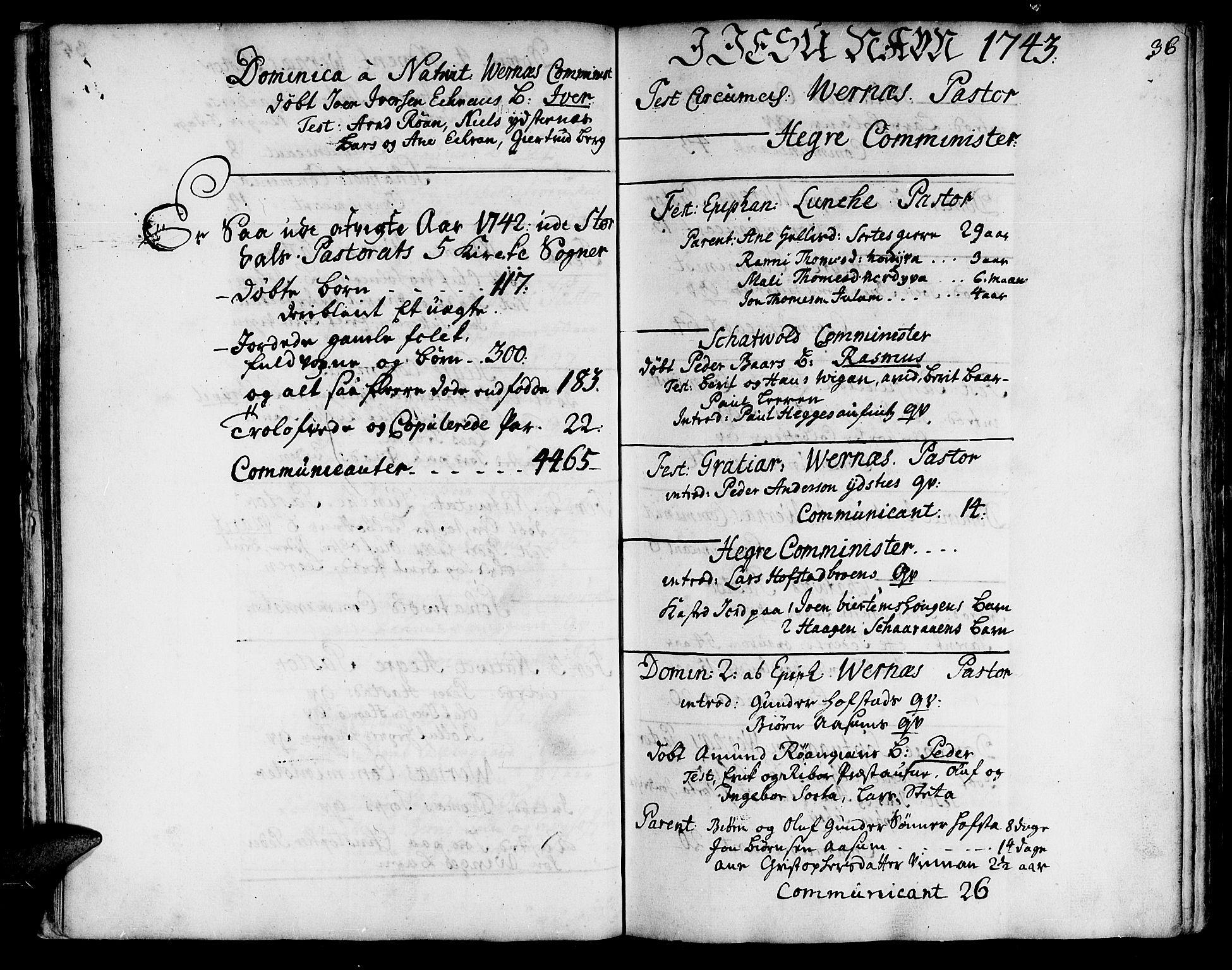 SAT, Ministerialprotokoller, klokkerbøker og fødselsregistre - Nord-Trøndelag, 709/L0056: Ministerialbok nr. 709A04, 1740-1756, s. 36