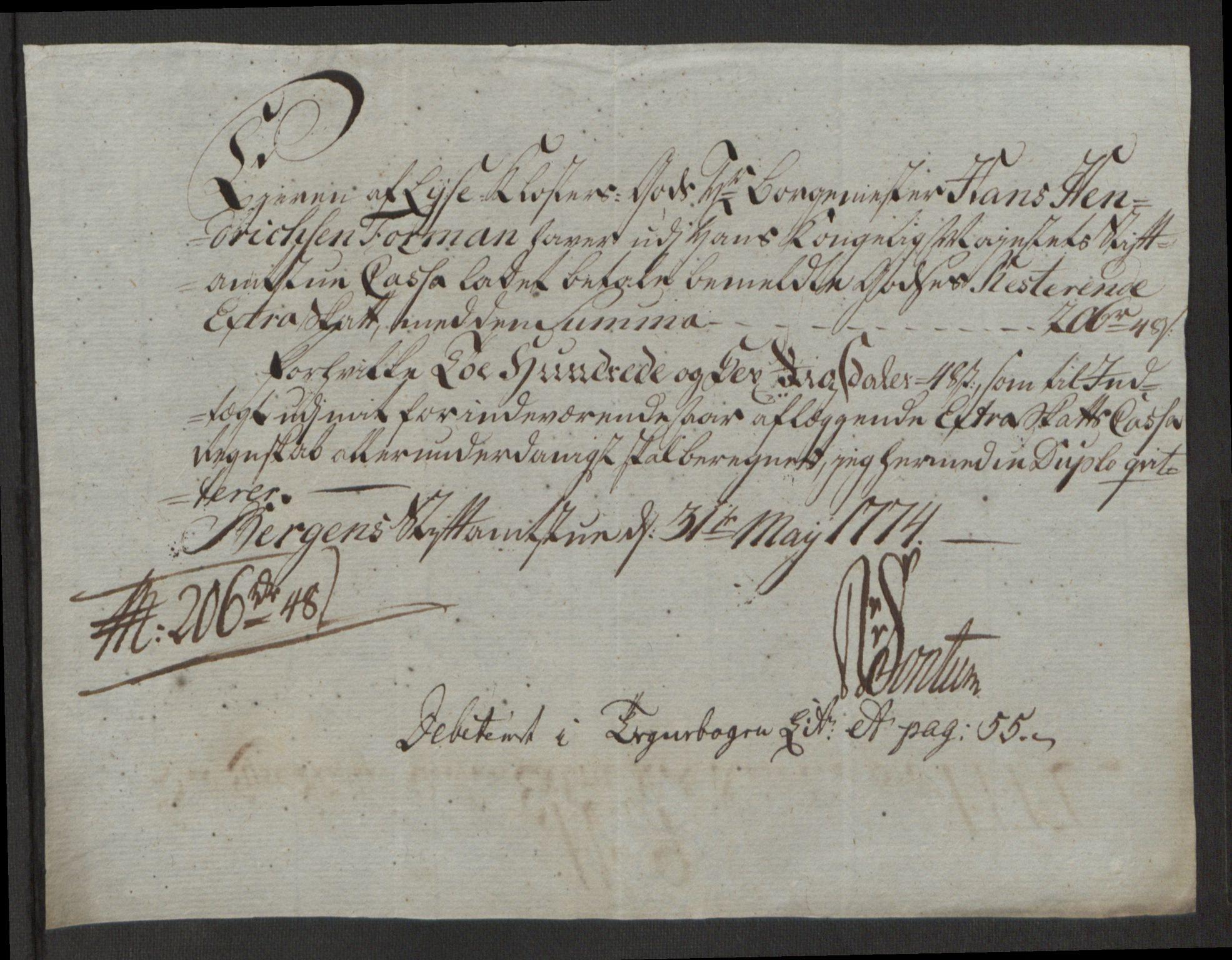 RA, Rentekammeret inntil 1814, Reviderte regnskaper, Fogderegnskap, R50/L3180: Ekstraskatten Lyse kloster, 1762-1783, s. 322
