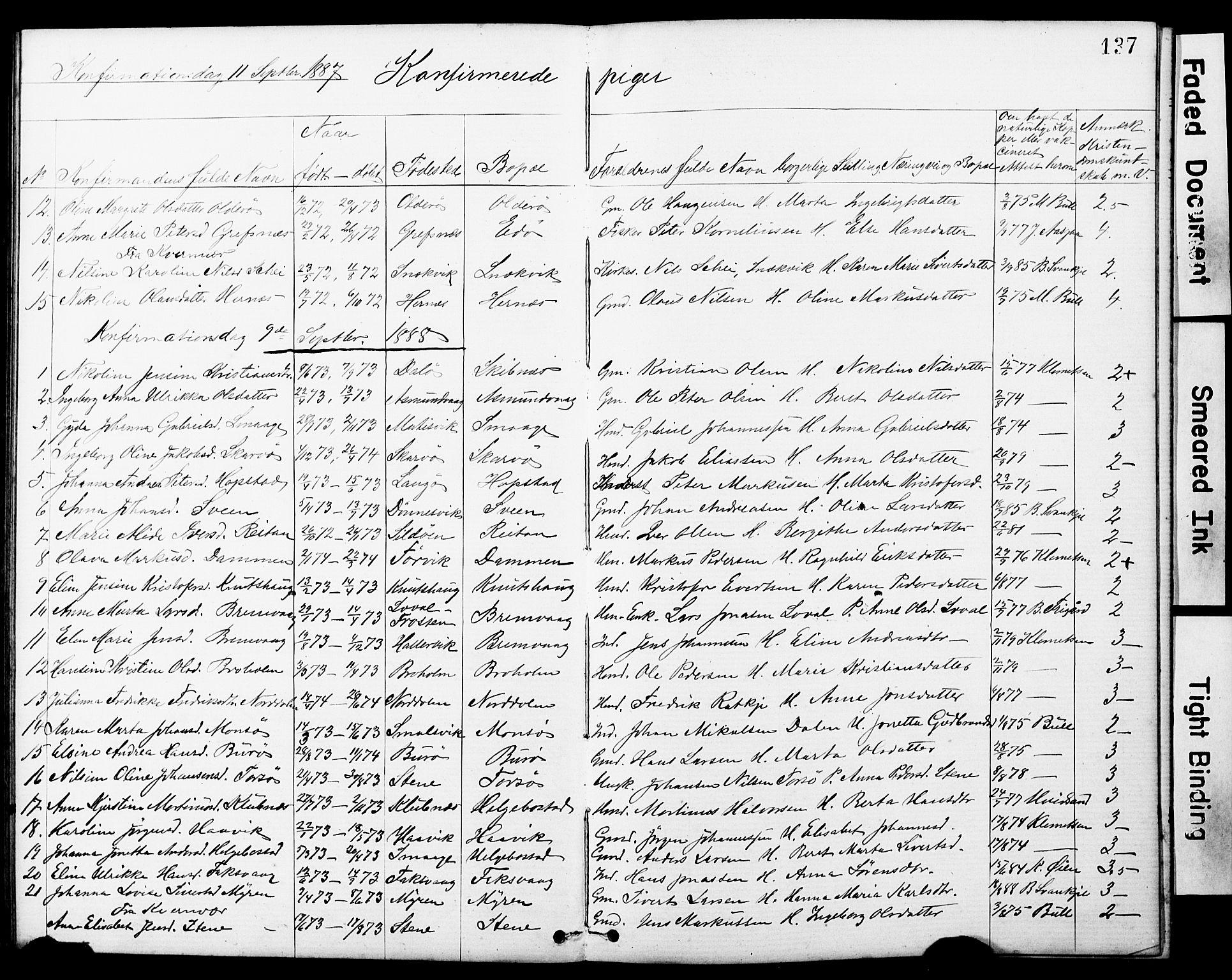 SAT, Ministerialprotokoller, klokkerbøker og fødselsregistre - Sør-Trøndelag, 634/L0541: Klokkerbok nr. 634C03, 1874-1891, s. 137