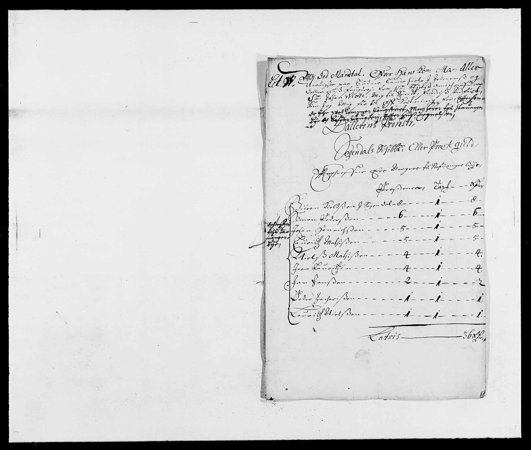 RA, Rentekammeret inntil 1814, Reviderte regnskaper, Fogderegnskap, R46/L2715: Fogderegnskap Jæren og Dalane, 1675, s. 388