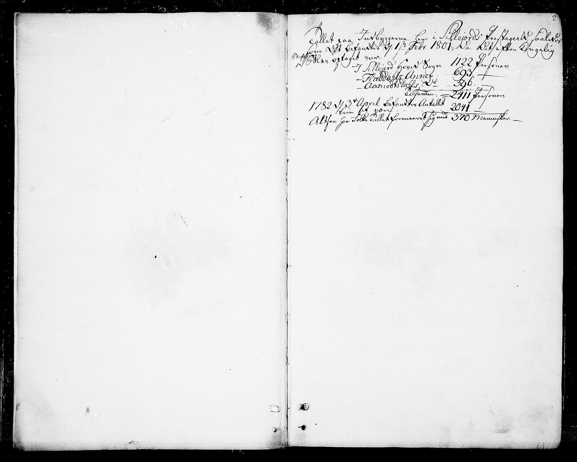 SAKO, Seljord kirkebøker, F/Fa/L0009: Ministerialbok nr. I 9, 1801-1814, s. 2