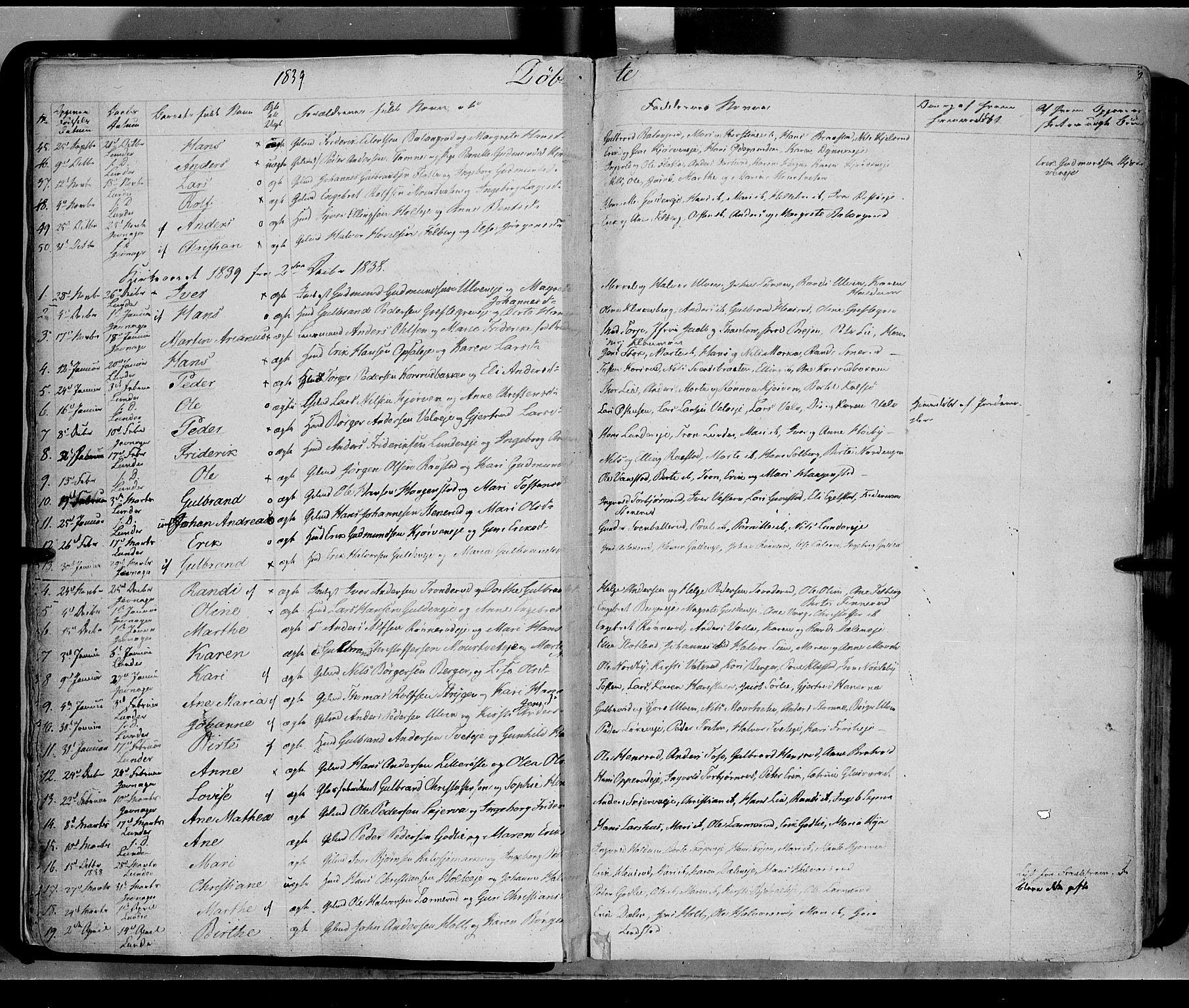 SAH, Jevnaker prestekontor, Ministerialbok nr. 6, 1837-1857, s. 9