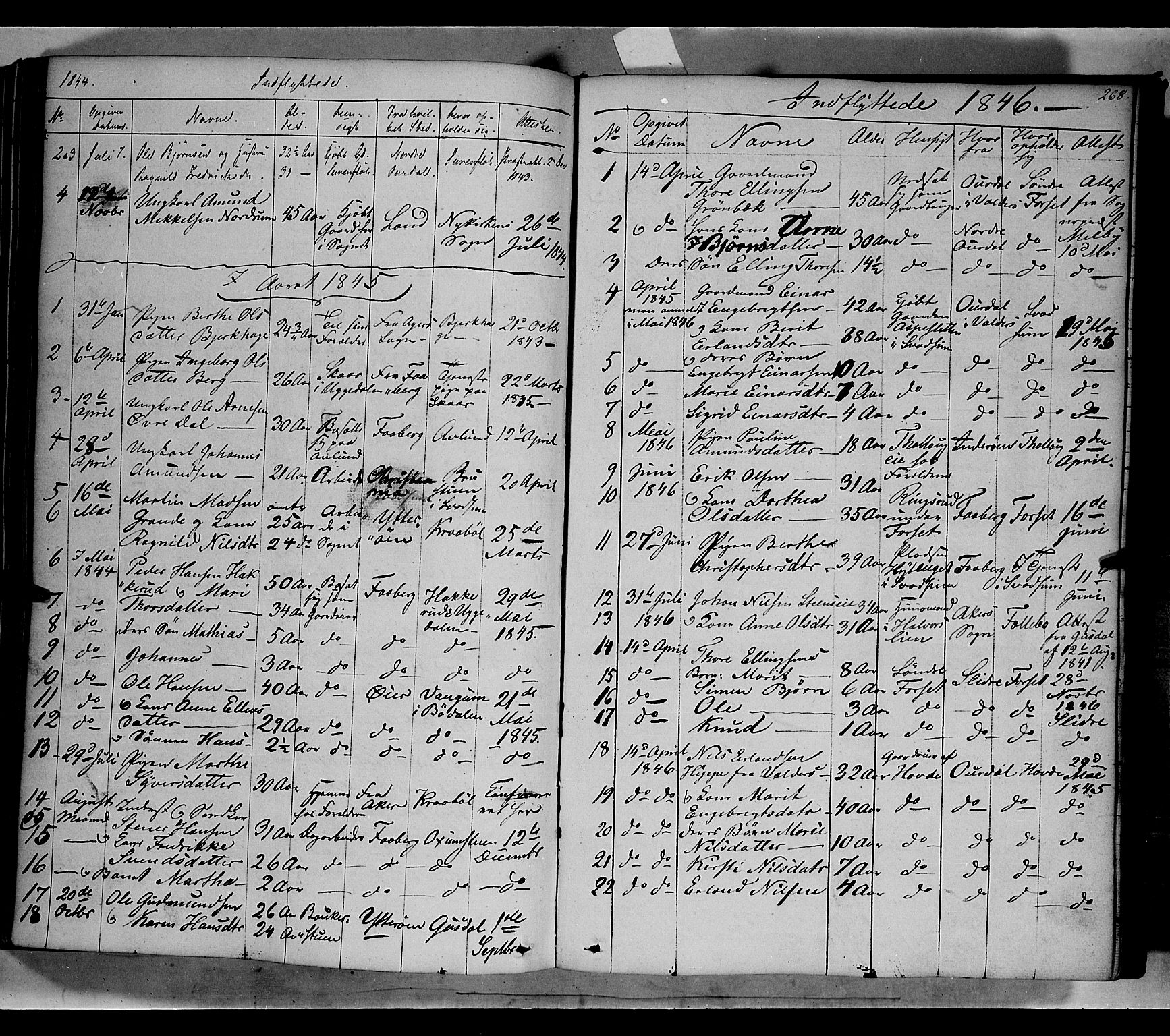 SAH, Gausdal prestekontor, Ministerialbok nr. 7, 1840-1850, s. 268