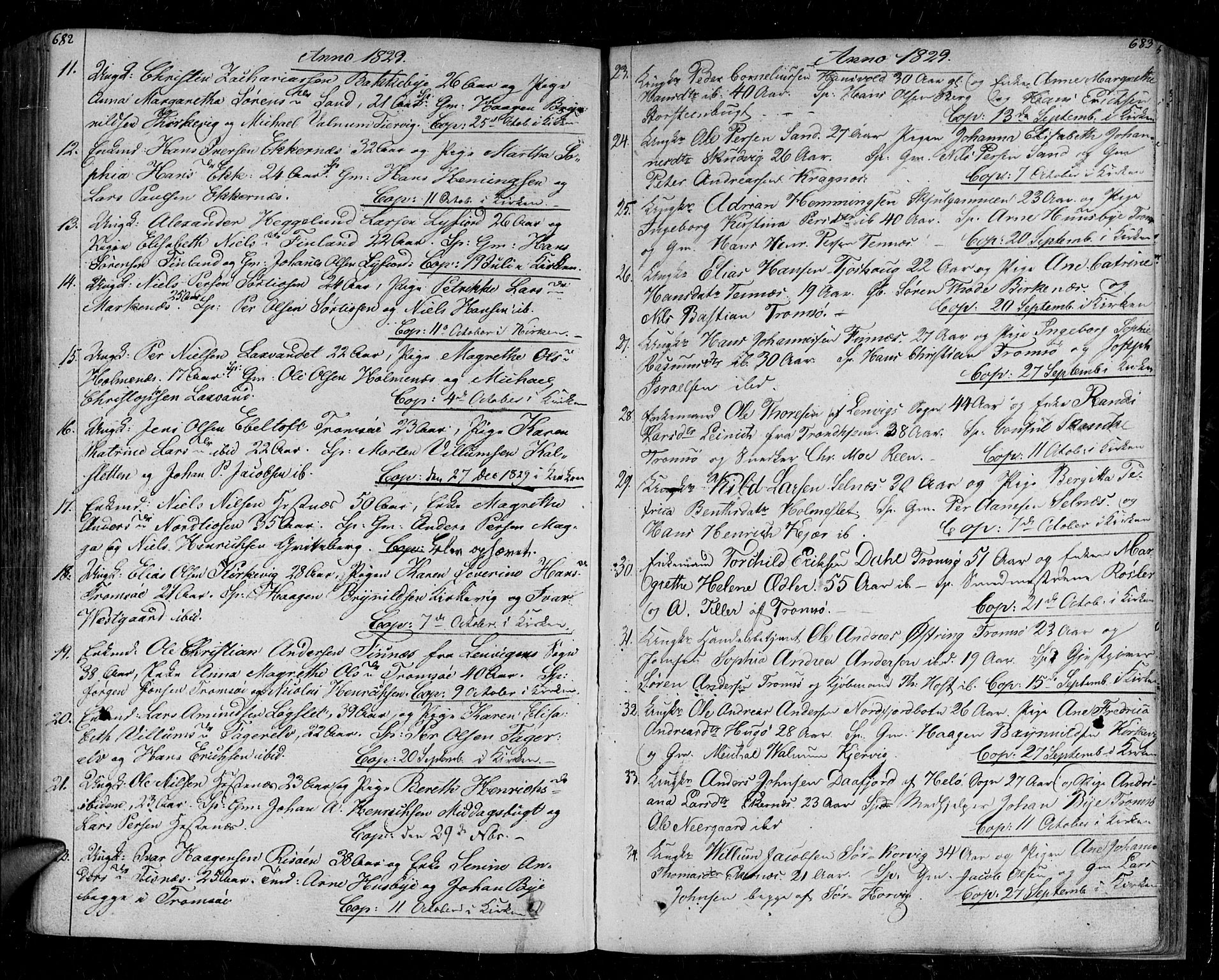 SATØ, Tromsø sokneprestkontor/stiftsprosti/domprosti, G/Ga/L0008kirke: Ministerialbok nr. 8, 1829-1837, s. 682-683