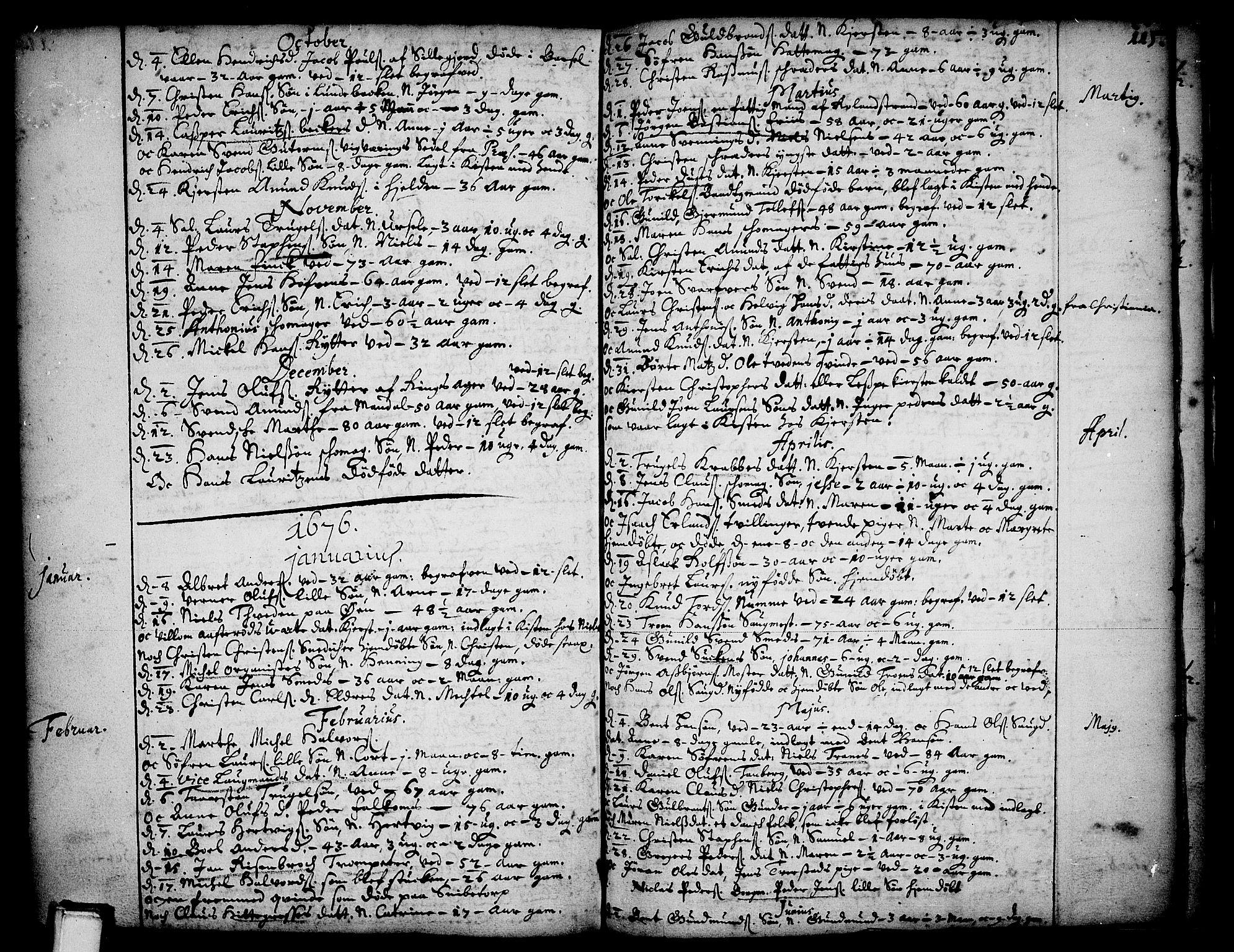 SAKO, Skien kirkebøker, F/Fa/L0001: Ministerialbok nr. 1, 1659-1679, s. 115