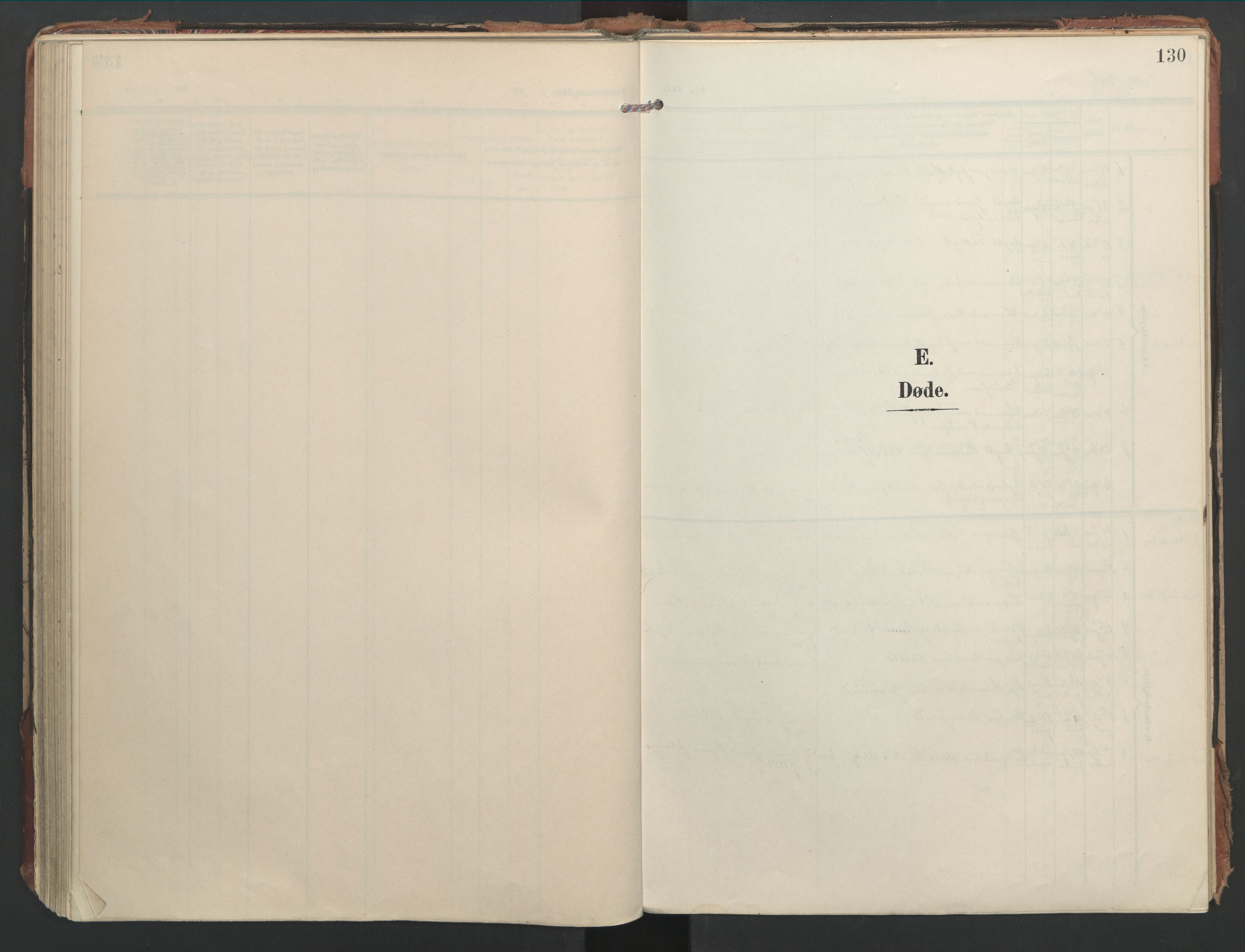SAT, Ministerialprotokoller, klokkerbøker og fødselsregistre - Nord-Trøndelag, 744/L0421: Ministerialbok nr. 744A05, 1905-1930, s. 130