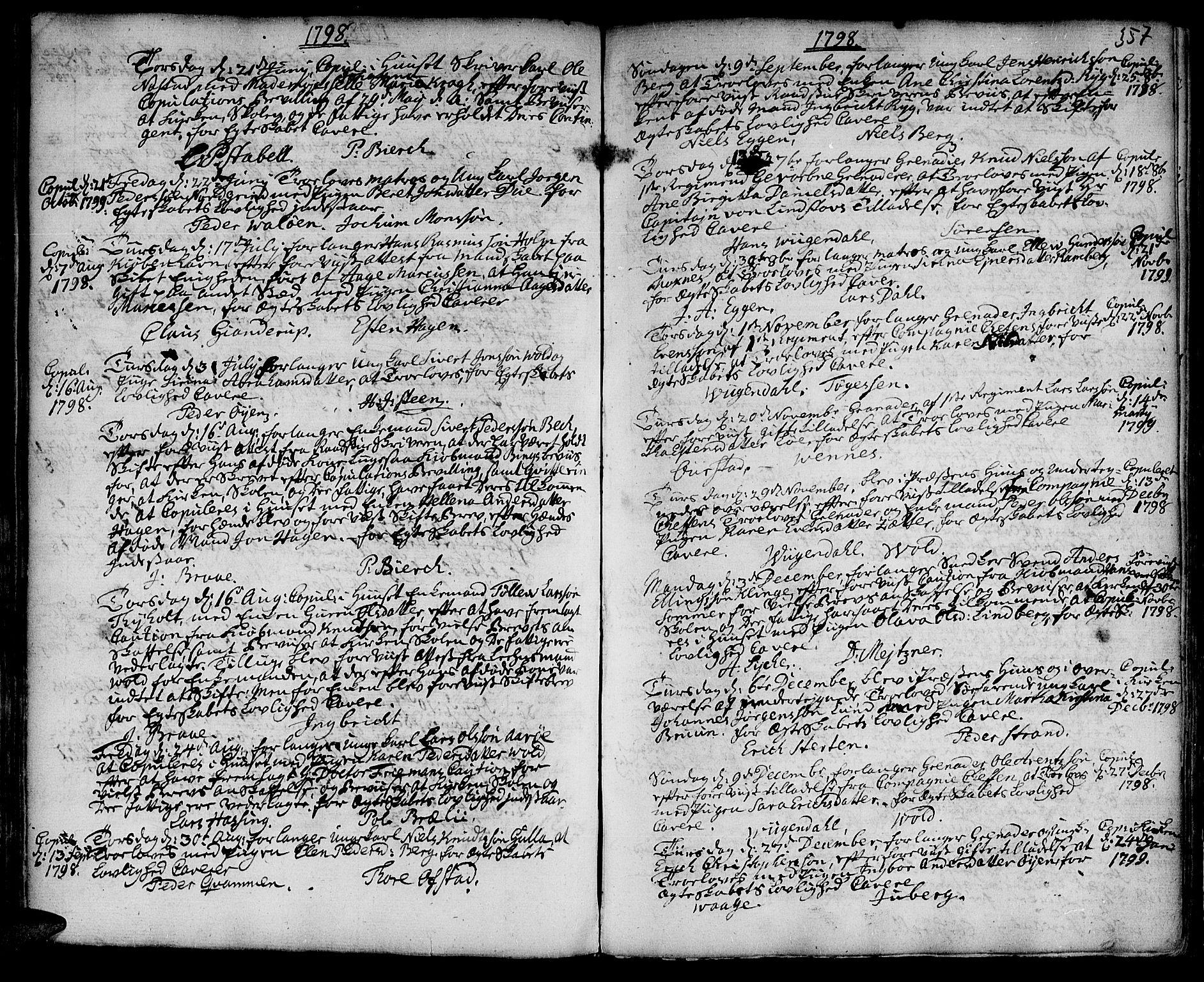 SAT, Ministerialprotokoller, klokkerbøker og fødselsregistre - Sør-Trøndelag, 601/L0038: Ministerialbok nr. 601A06, 1766-1877, s. 357