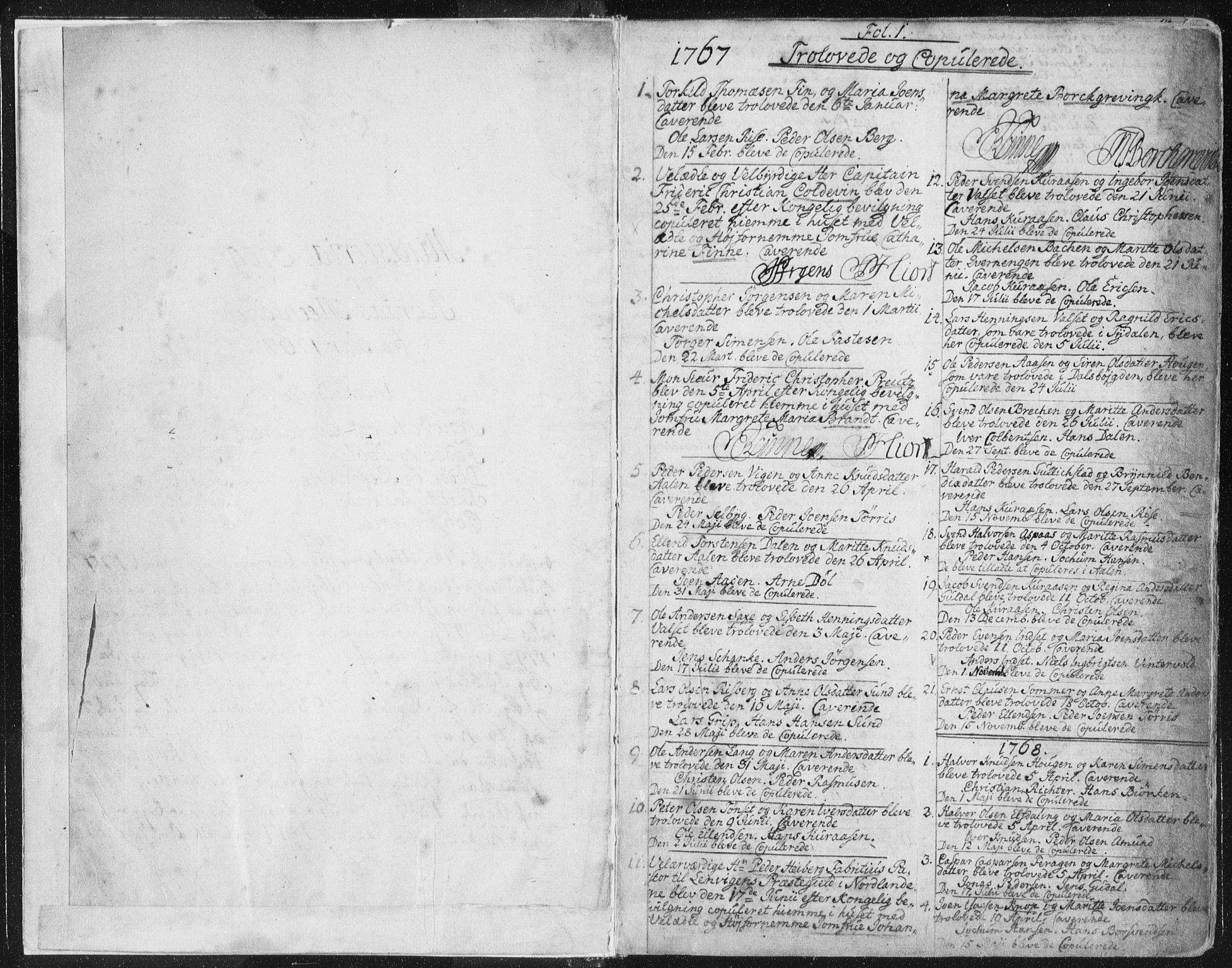 SAT, Ministerialprotokoller, klokkerbøker og fødselsregistre - Sør-Trøndelag, 681/L0926: Ministerialbok nr. 681A04, 1767-1797, s. 1