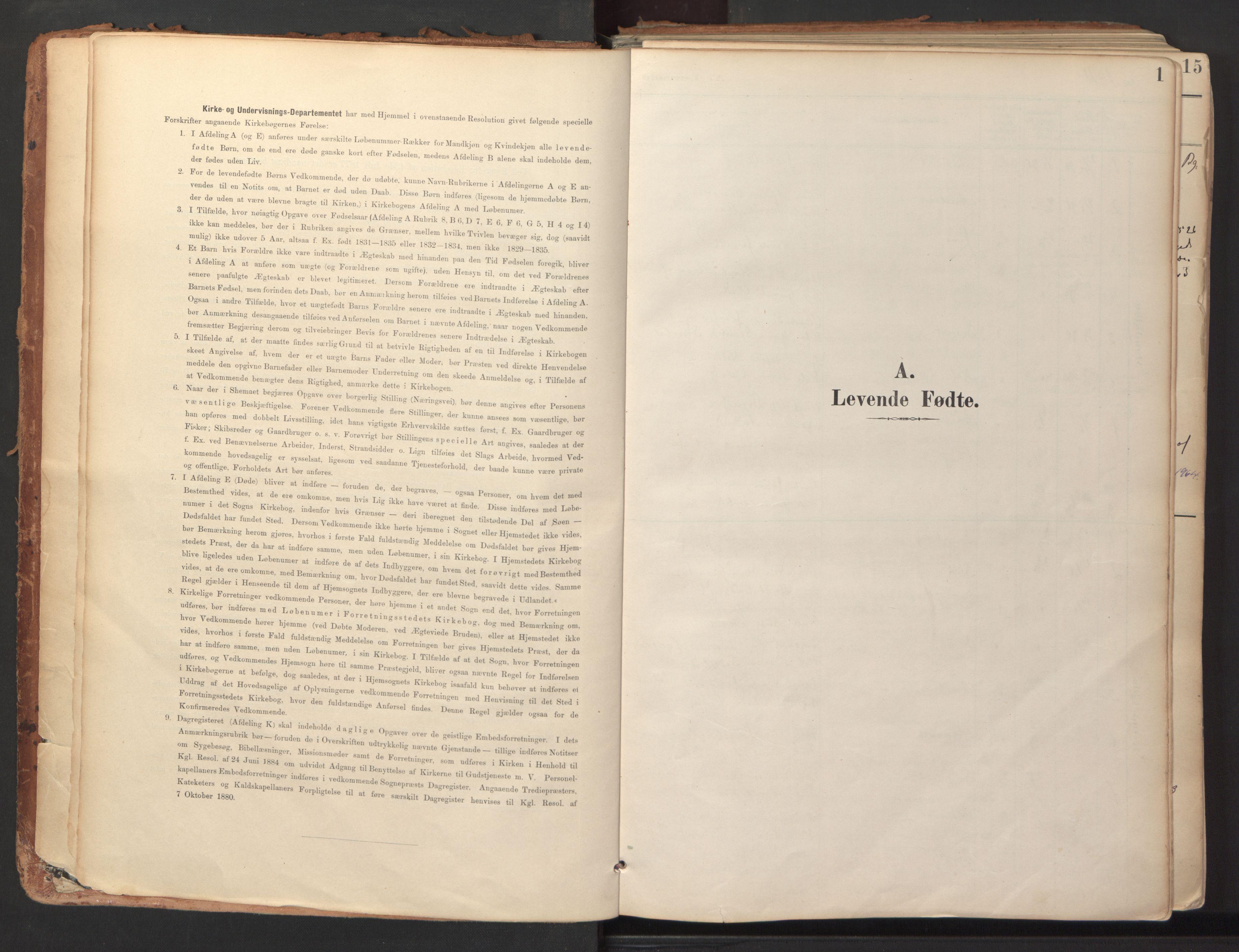 SAT, Ministerialprotokoller, klokkerbøker og fødselsregistre - Sør-Trøndelag, 689/L1041: Ministerialbok nr. 689A06, 1891-1923, s. 1