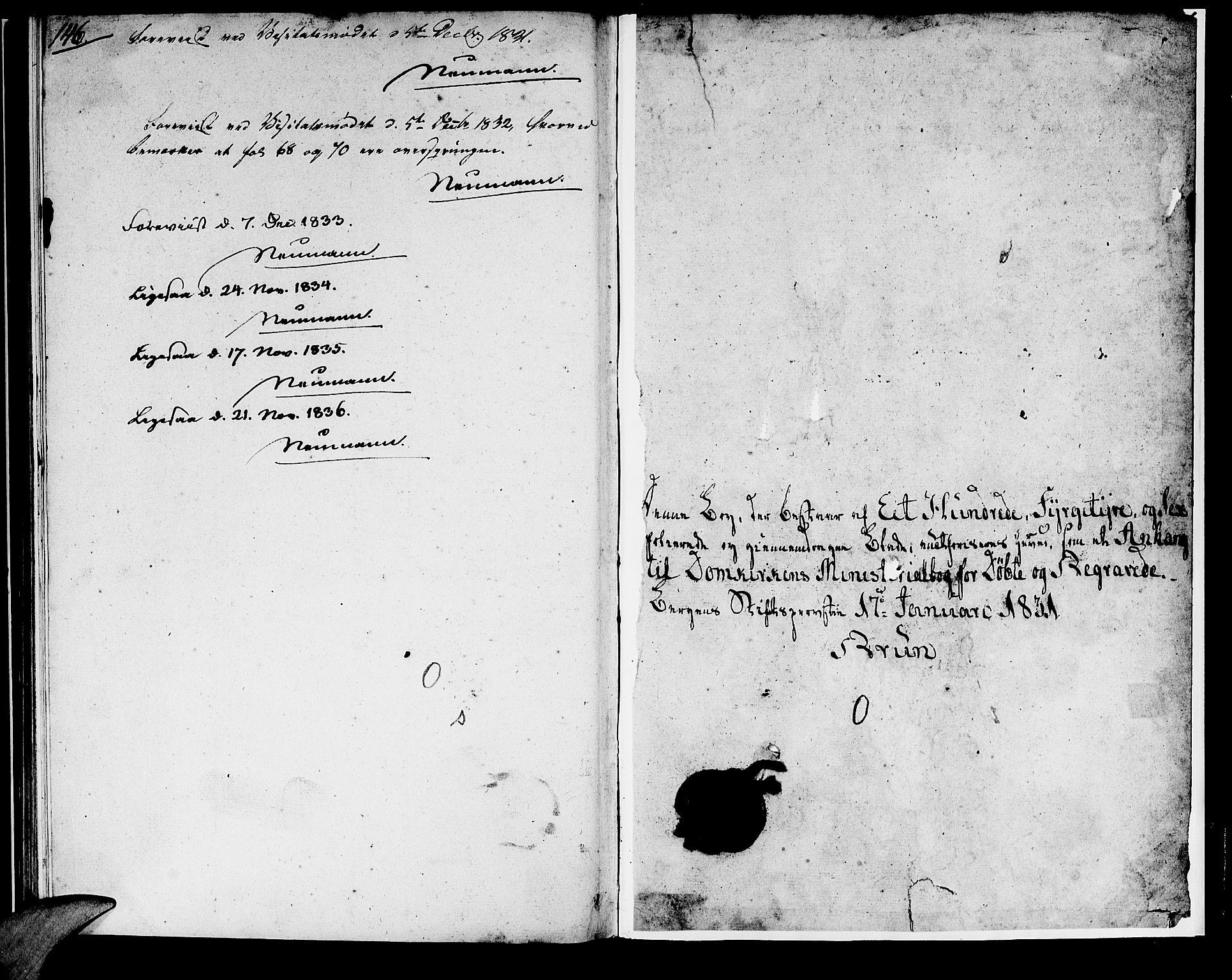 SAB, Domkirken Sokneprestembete, H/Haa/L0014: Ministerialbok nr. A 13, 1830-1837, s. 145