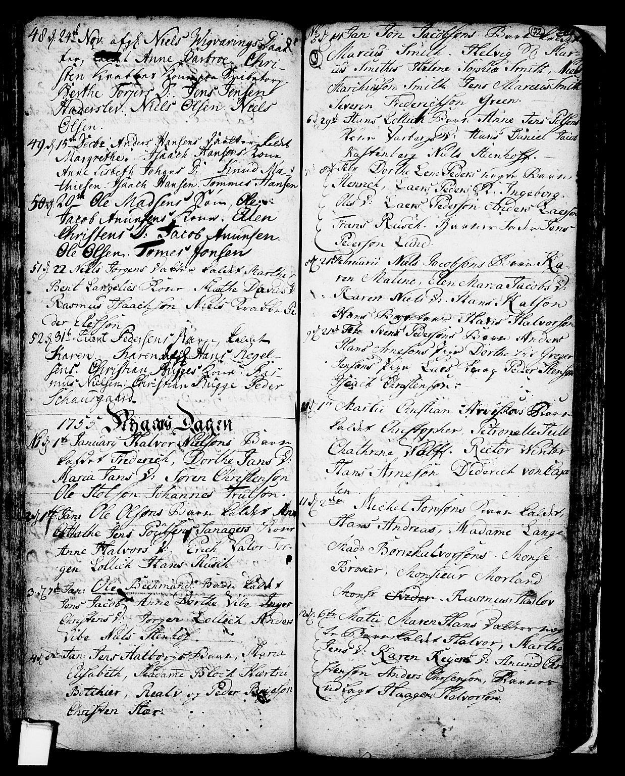 SAKO, Skien kirkebøker, F/Fa/L0002: Ministerialbok nr. 2, 1716-1757, s. 172
