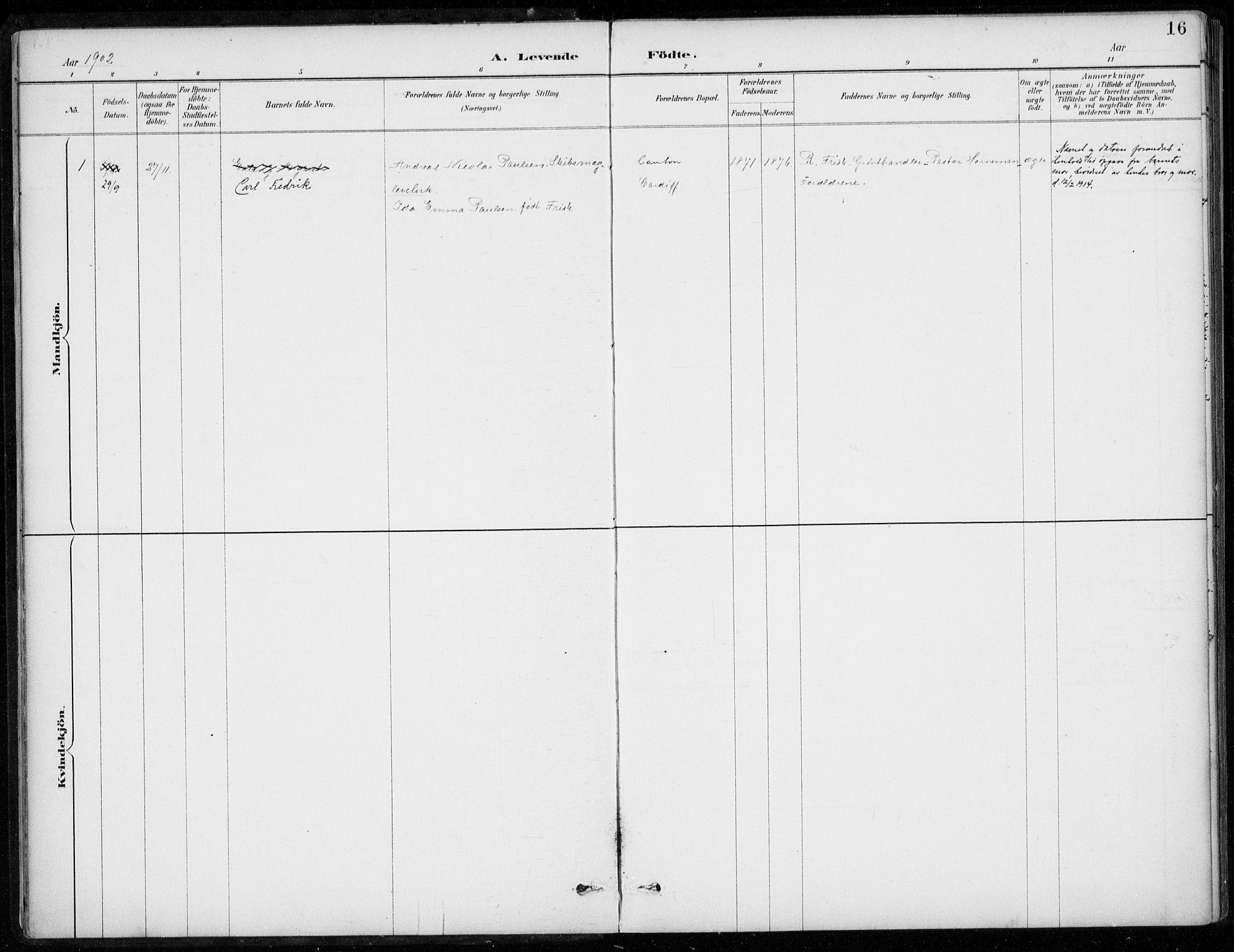 SAB, Den Norske Sjømannsmisjon i utlandet*, Ministerialbok nr. A 2, 1887-1932, s. 16