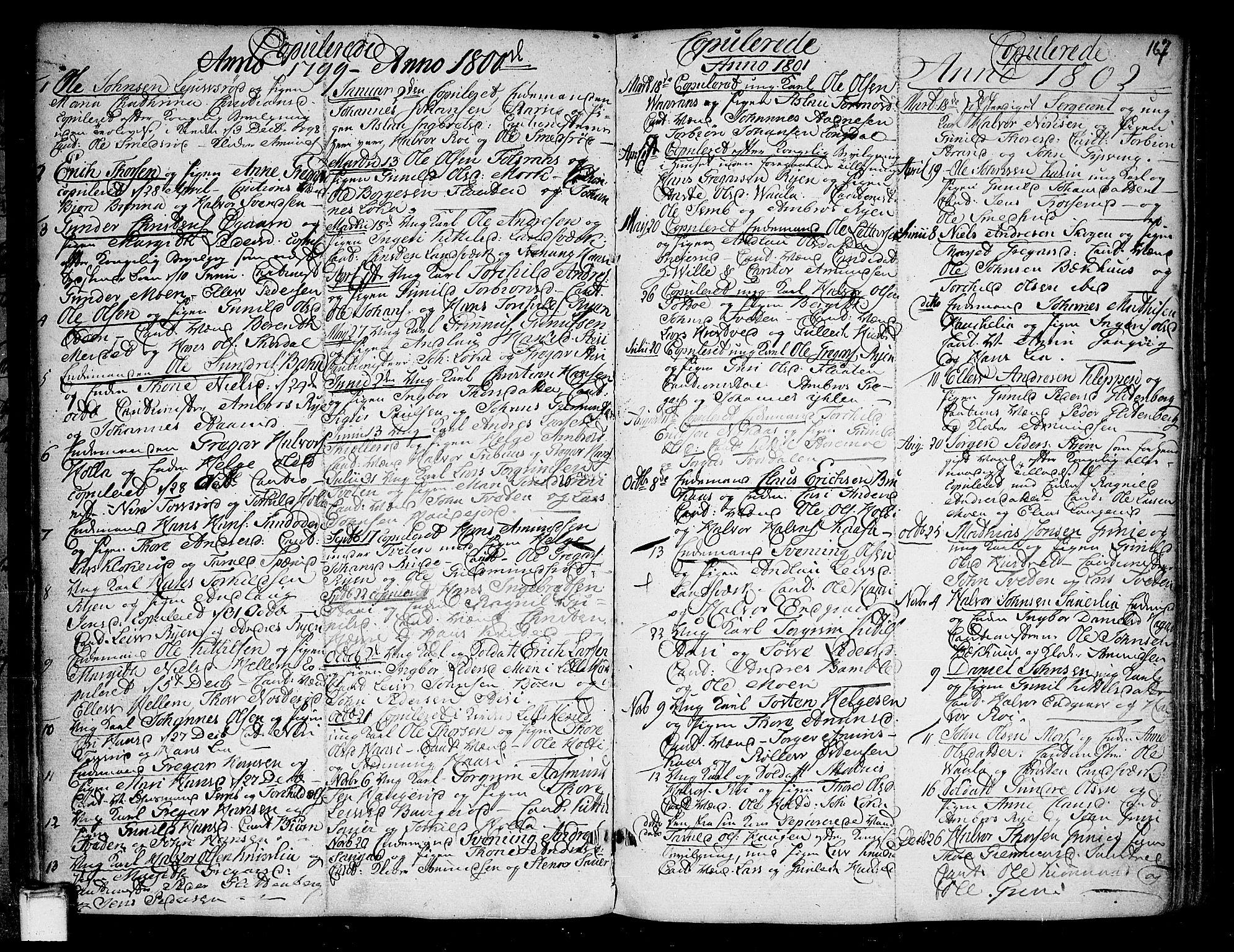 SAKO, Heddal kirkebøker, F/Fa/L0004: Ministerialbok nr. I 4, 1784-1814, s. 167