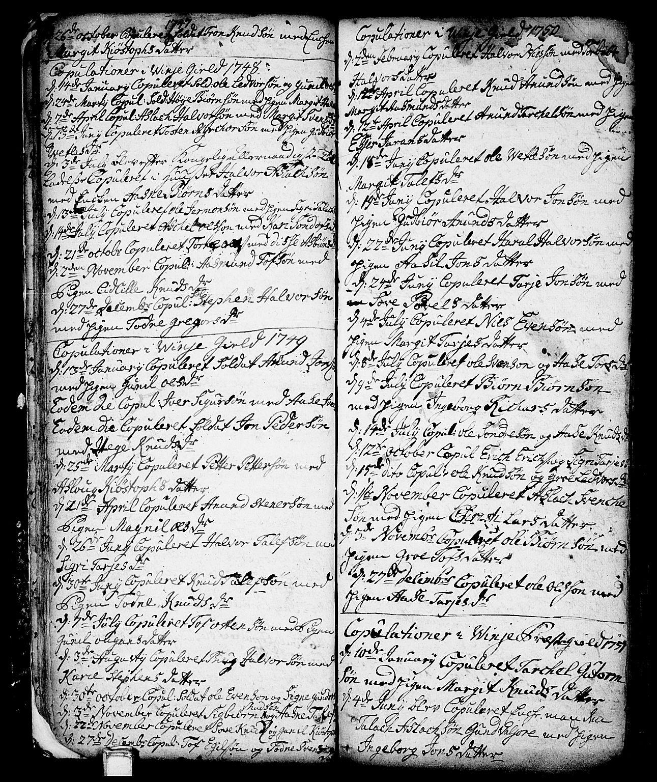 SAKO, Vinje kirkebøker, F/Fa/L0001: Ministerialbok nr. I 1, 1717-1766, s. 37