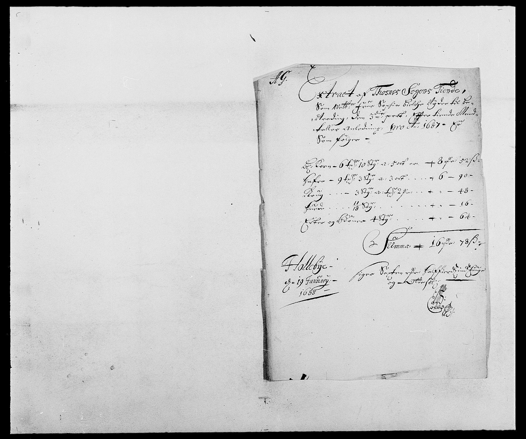 RA, Rentekammeret inntil 1814, Reviderte regnskaper, Fogderegnskap, R03/L0117: Fogderegnskap Onsøy, Tune, Veme og Åbygge fogderi, 1684-1689, s. 136