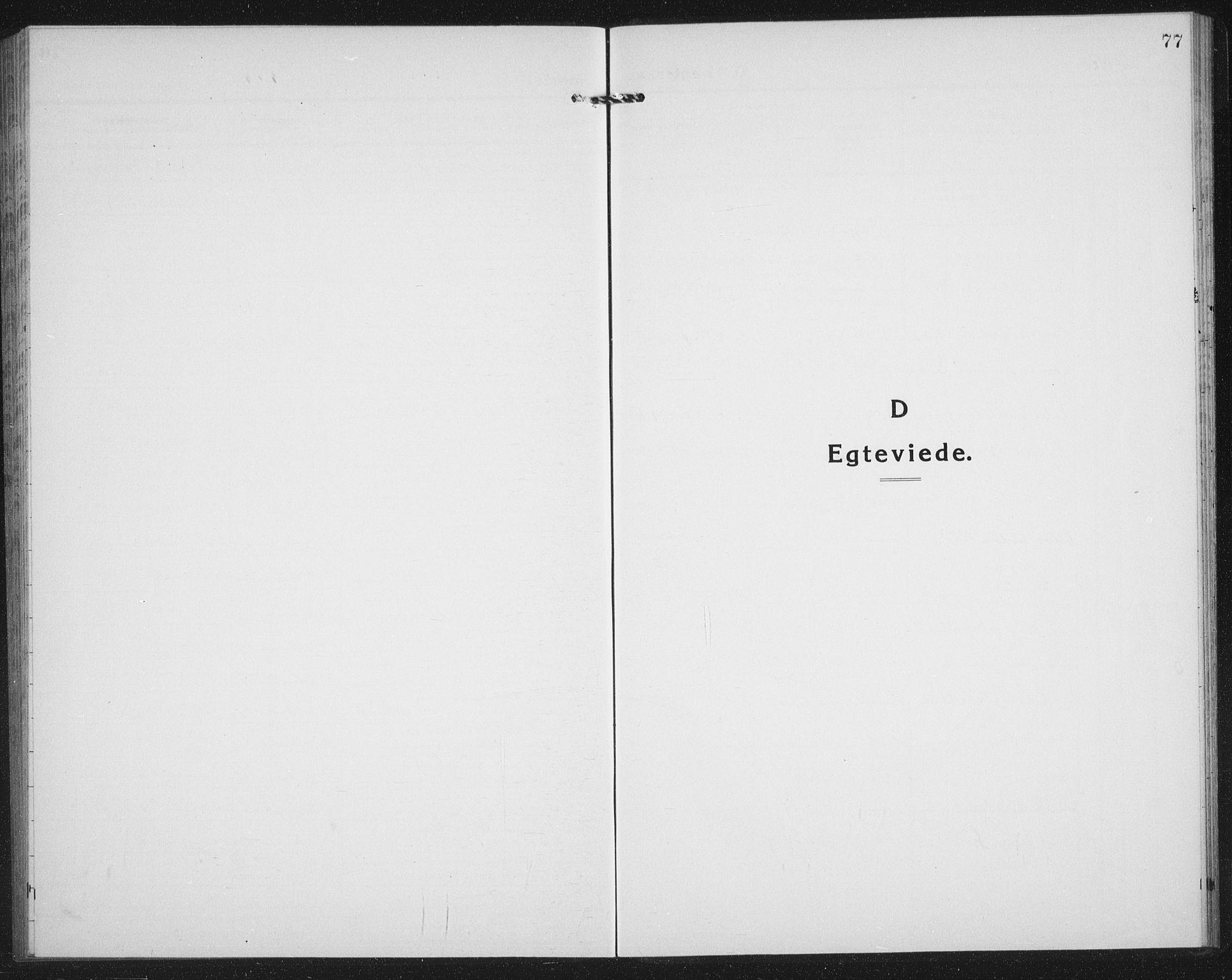 SATØ, Mefjord/Berg sokneprestkontor, G/Ga/Gab/L0007klokker: Klokkerbok nr. 7, 1922-1936, s. 77