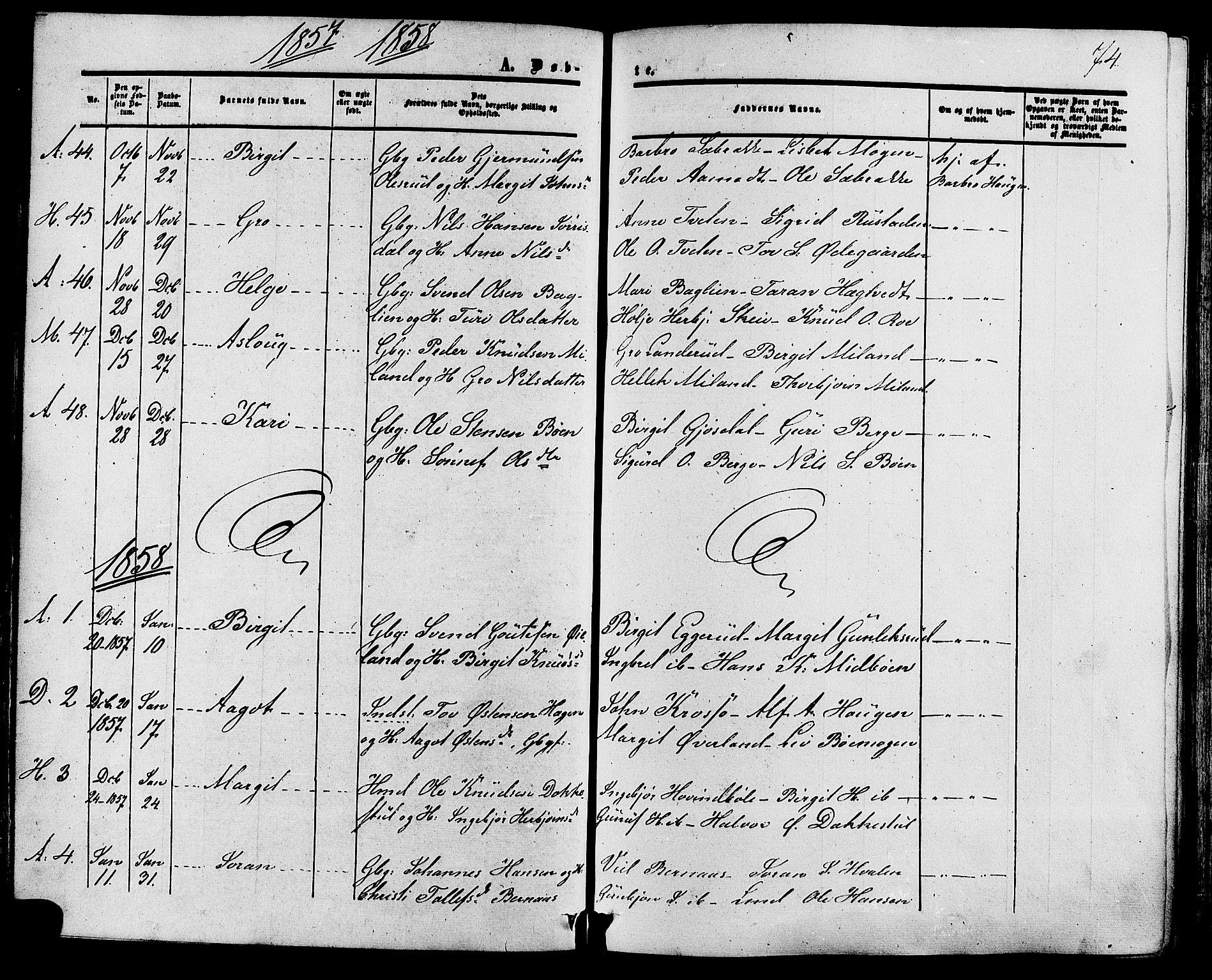 SAKO, Tinn kirkebøker, F/Fa/L0006: Ministerialbok nr. I 6, 1857-1878, s. 74