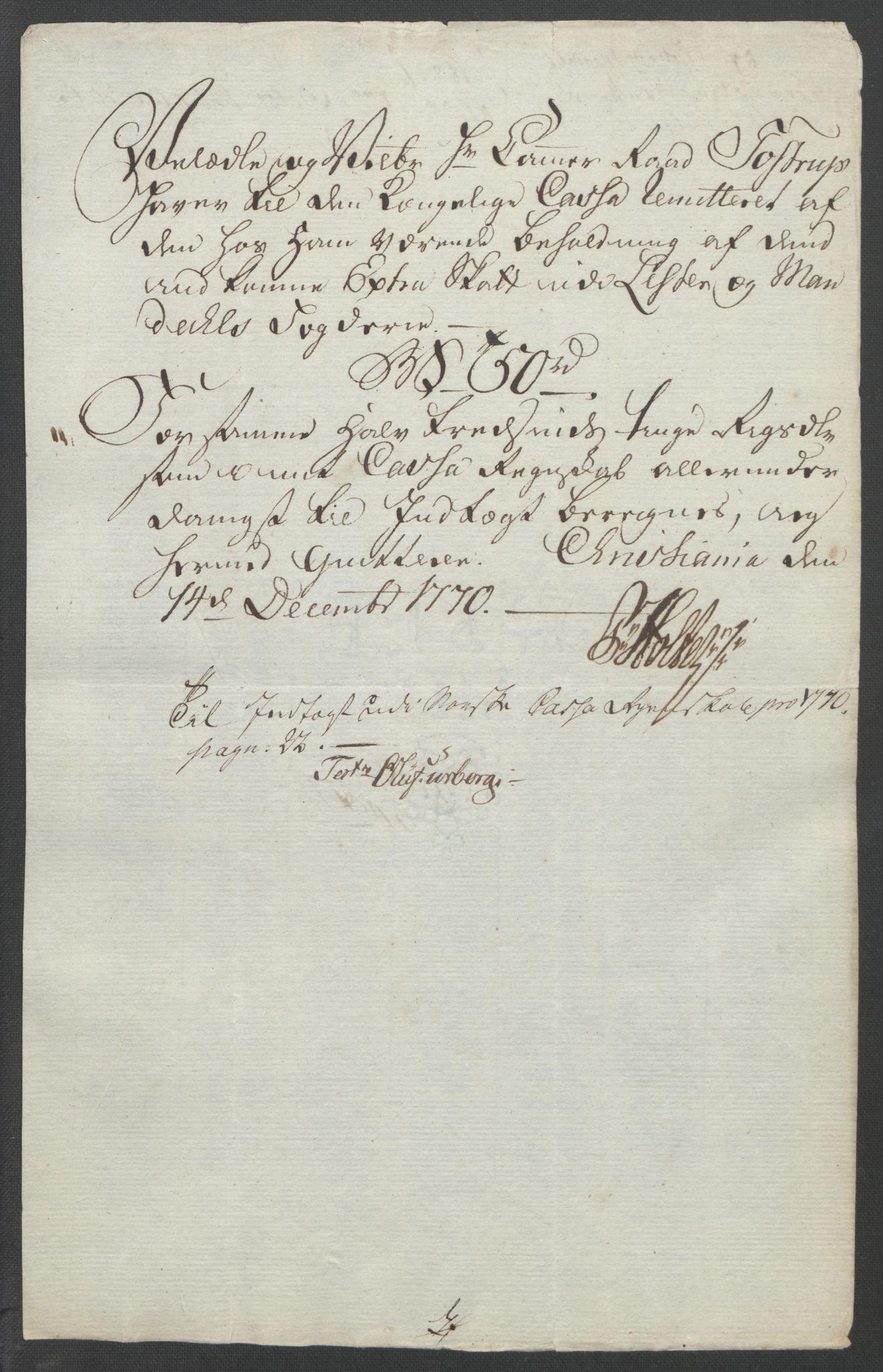 RA, Rentekammeret inntil 1814, Reviderte regnskaper, Fogderegnskap, R45/L2704: Ekstraskatten Lista og Mandal, 1762-1768, s. 290
