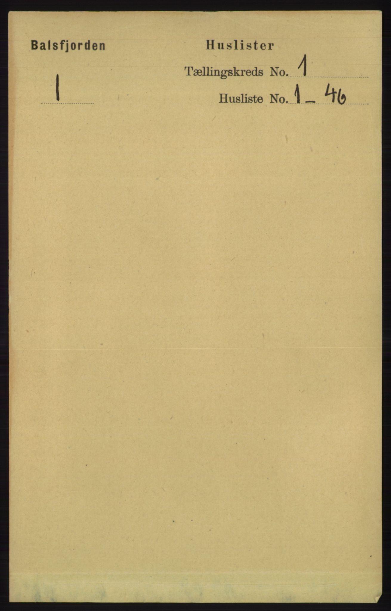 RA, Folketelling 1891 for 1933 Balsfjord herred, 1891, s. 24
