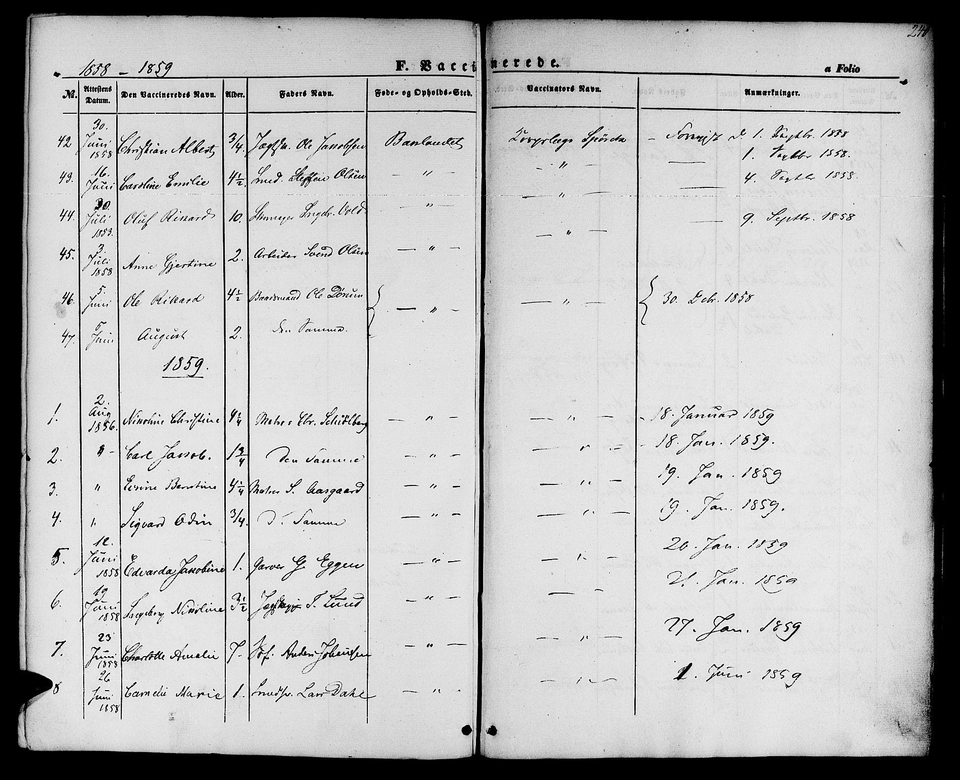 SAT, Ministerialprotokoller, klokkerbøker og fødselsregistre - Sør-Trøndelag, 604/L0184: Ministerialbok nr. 604A05, 1851-1860, s. 240
