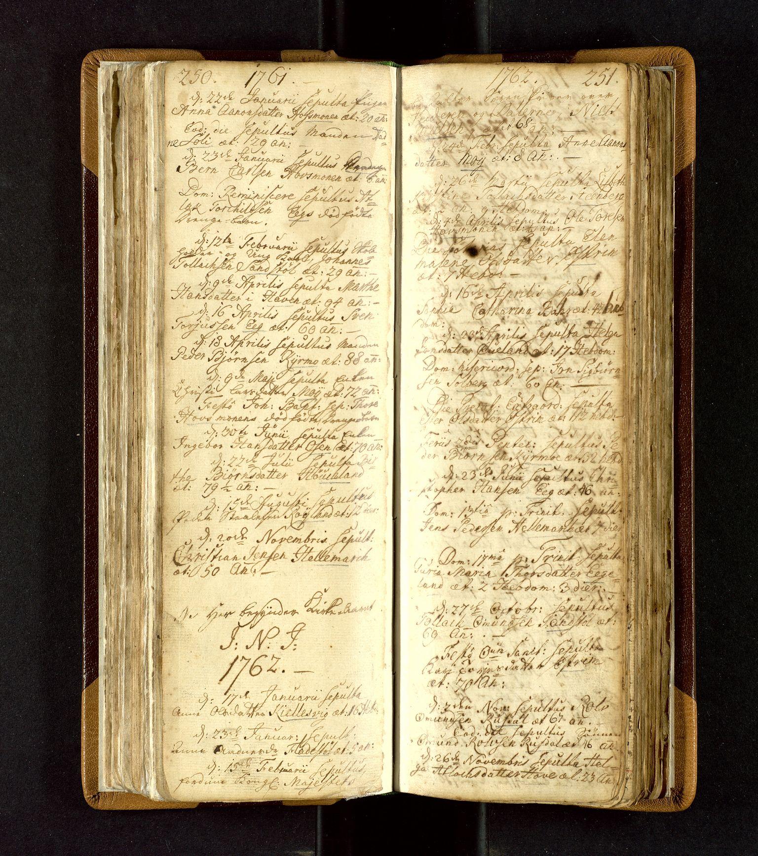 SAST, Lund sokneprestkontor, Ministerialbok nr. A 3, 1761-1801, s. 250-251