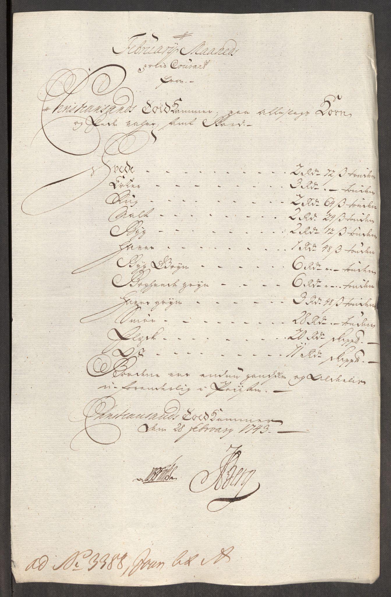 RA, Rentekammeret inntil 1814, Realistisk ordnet avdeling, Oe/L0002: [Ø1]: Priskuranter, 1740-1744, s. 778