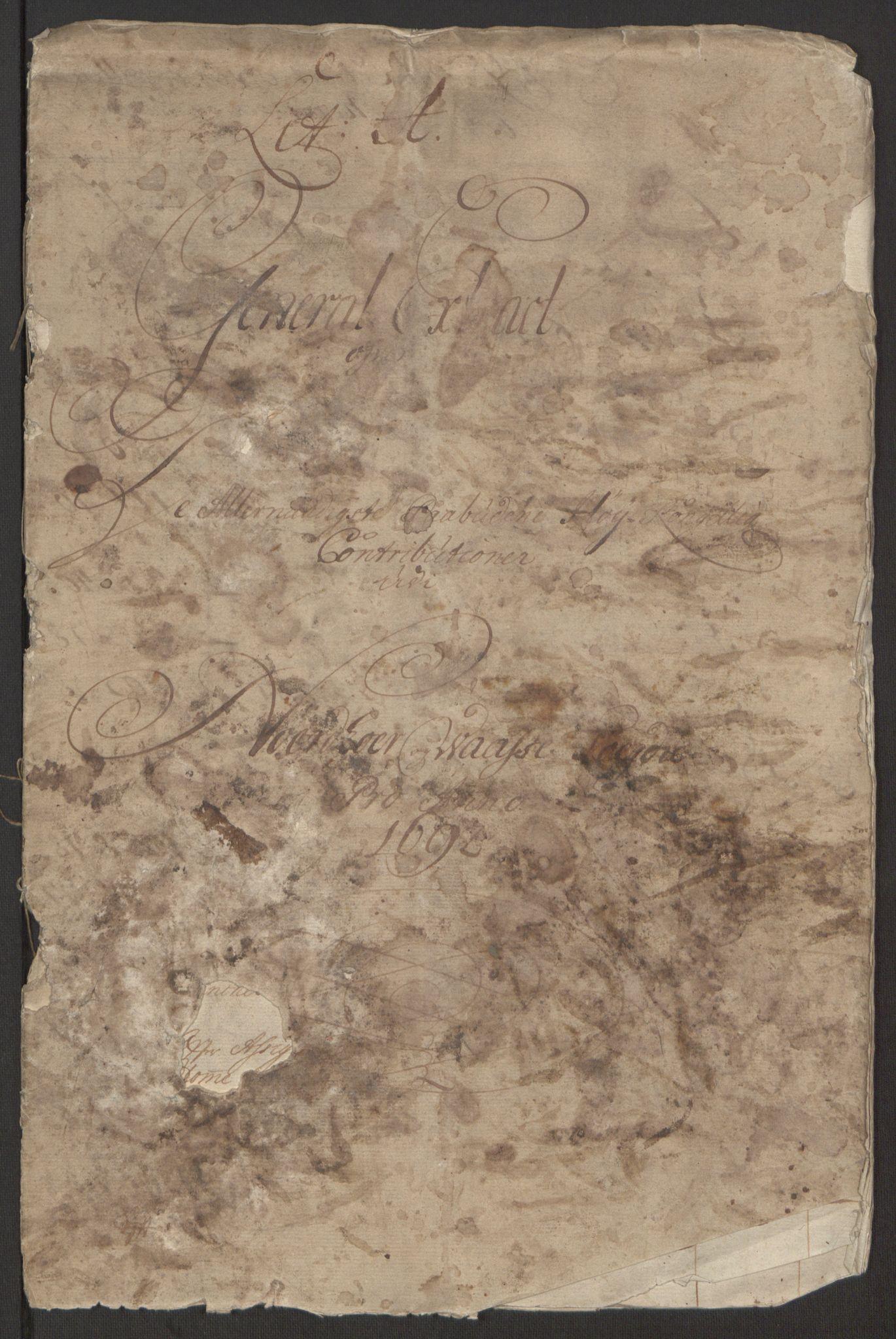RA, Rentekammeret inntil 1814, Reviderte regnskaper, Fogderegnskap, R51/L3181: Fogderegnskap Nordhordland og Voss, 1691-1692, s. 196