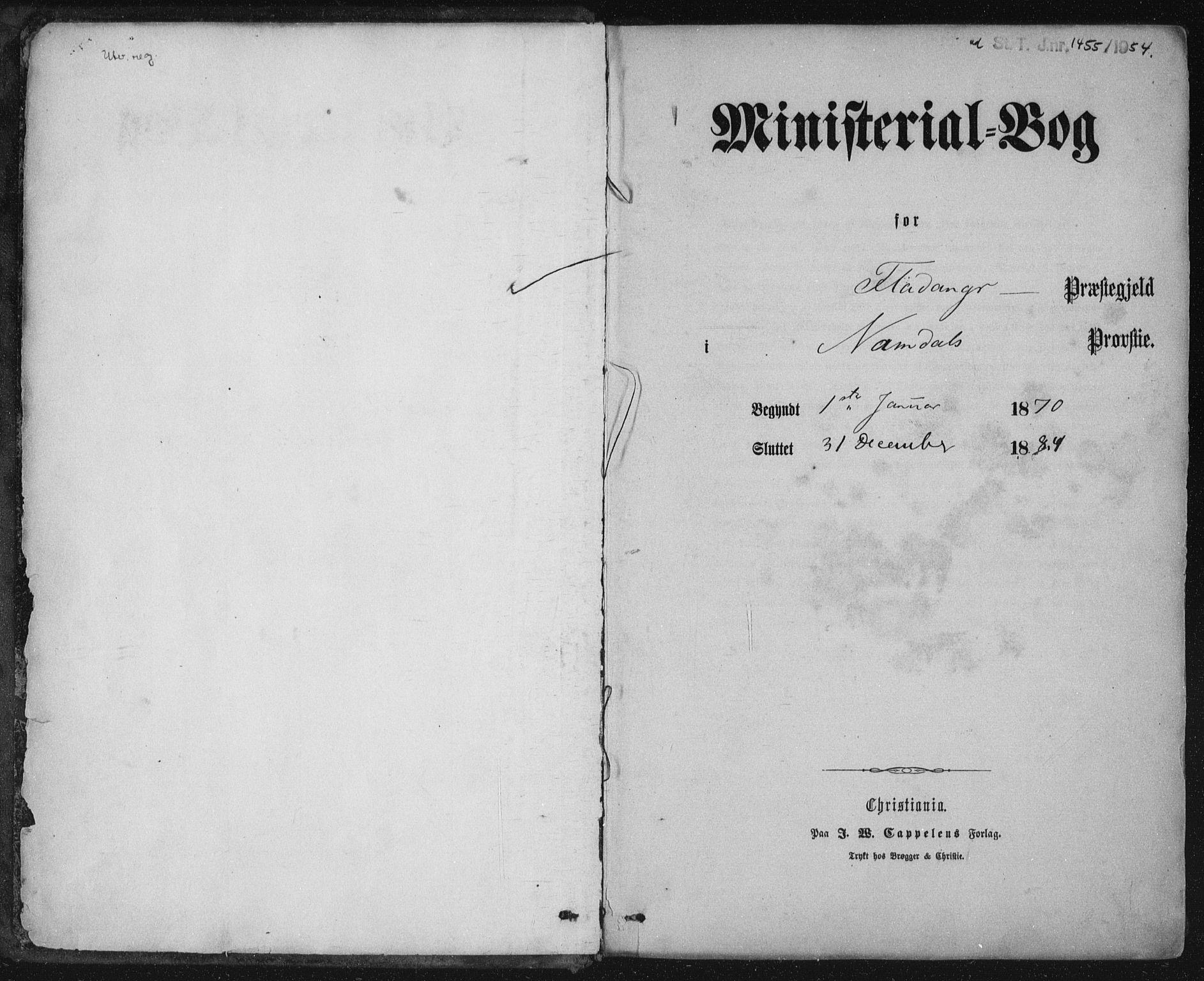SAT, Ministerialprotokoller, klokkerbøker og fødselsregistre - Nord-Trøndelag, 771/L0596: Ministerialbok nr. 771A03, 1870-1884