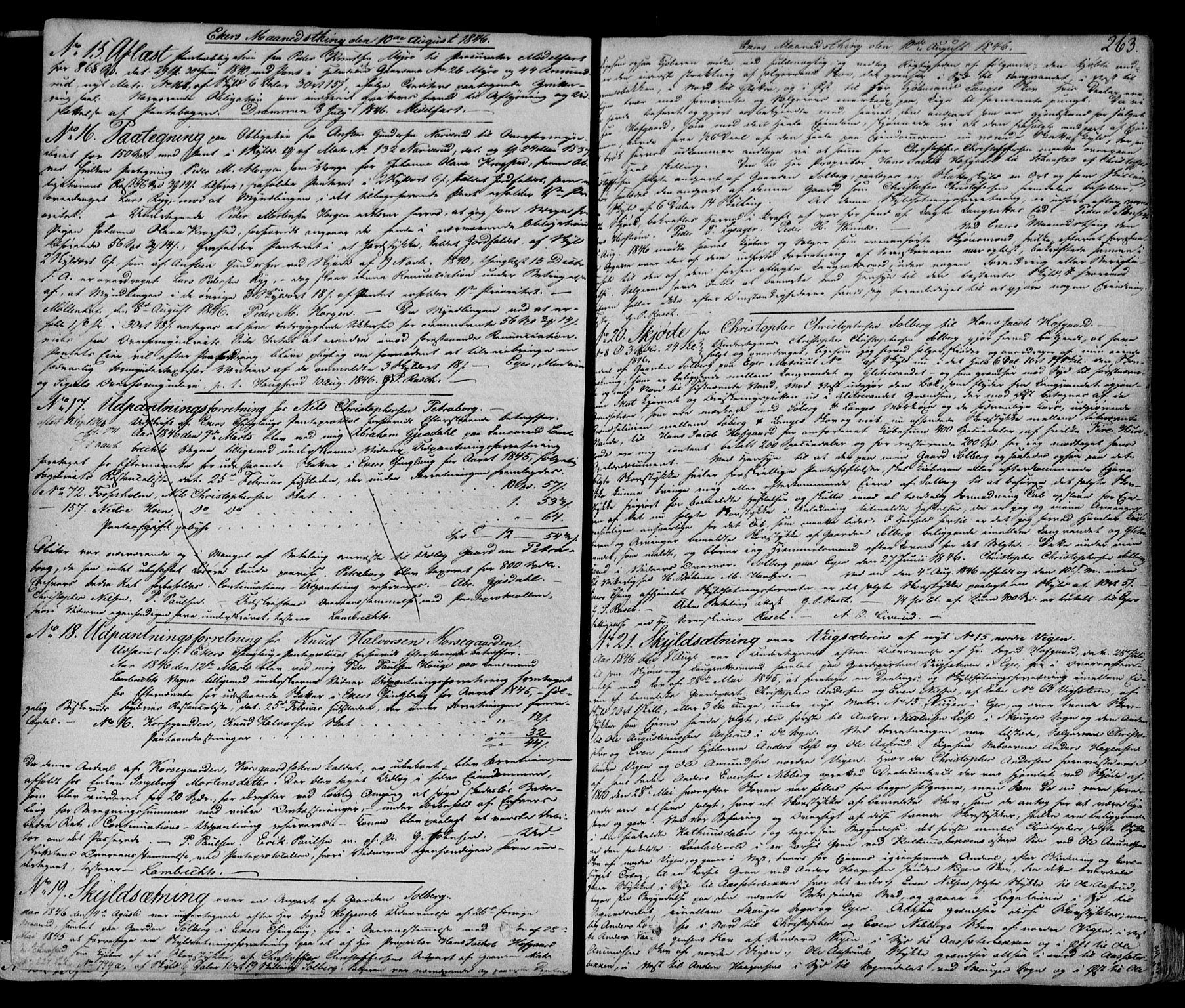 SAKO, Eiker, Modum og Sigdal sorenskriveri, G/Ga/Gaa/L0012a: Pantebok nr. I 12a, 1844-1848, s. 263