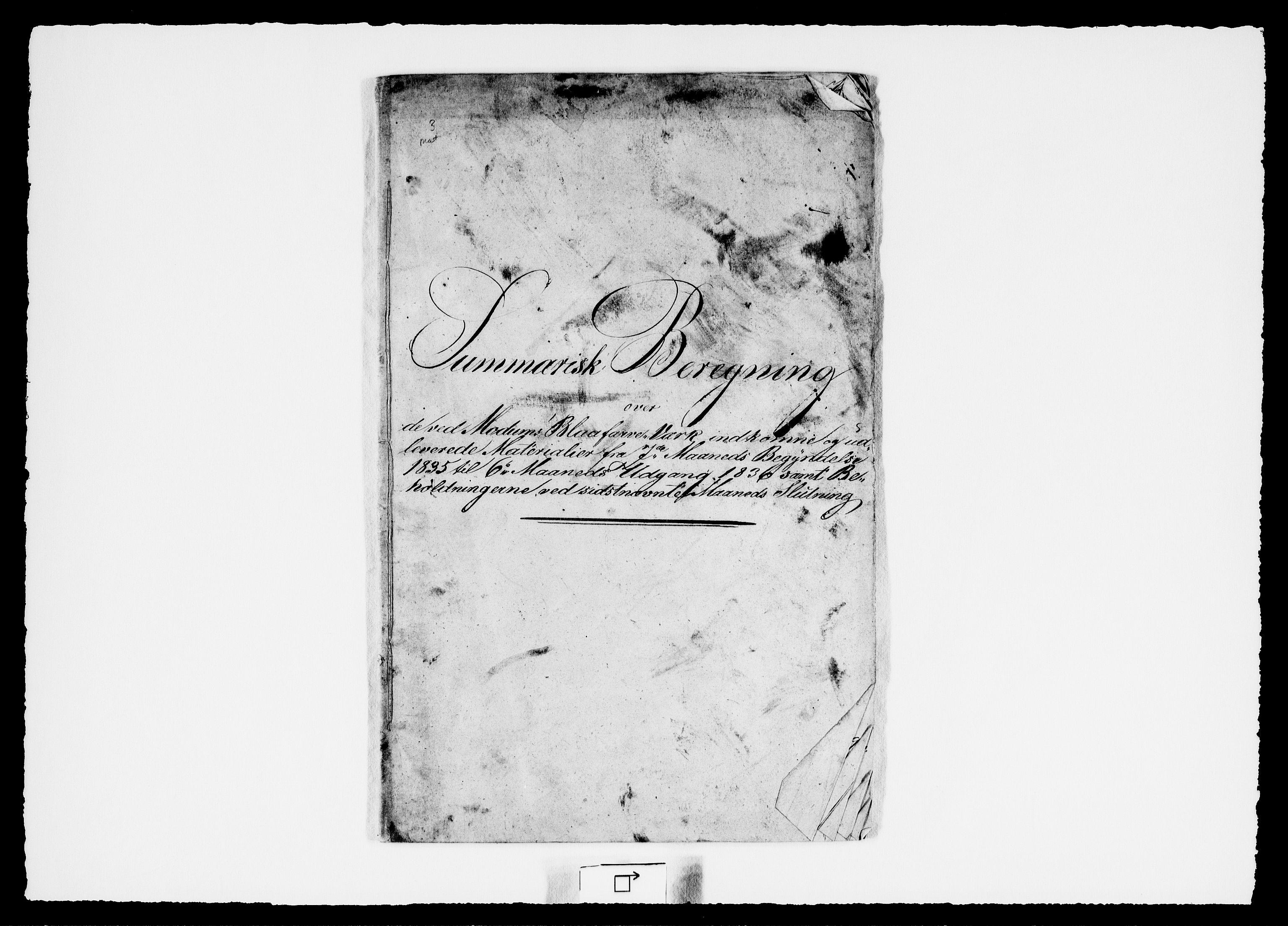 RA, Modums Blaafarveværk, G/Gd/Gdd/L0248, 1836-1839, s. 2