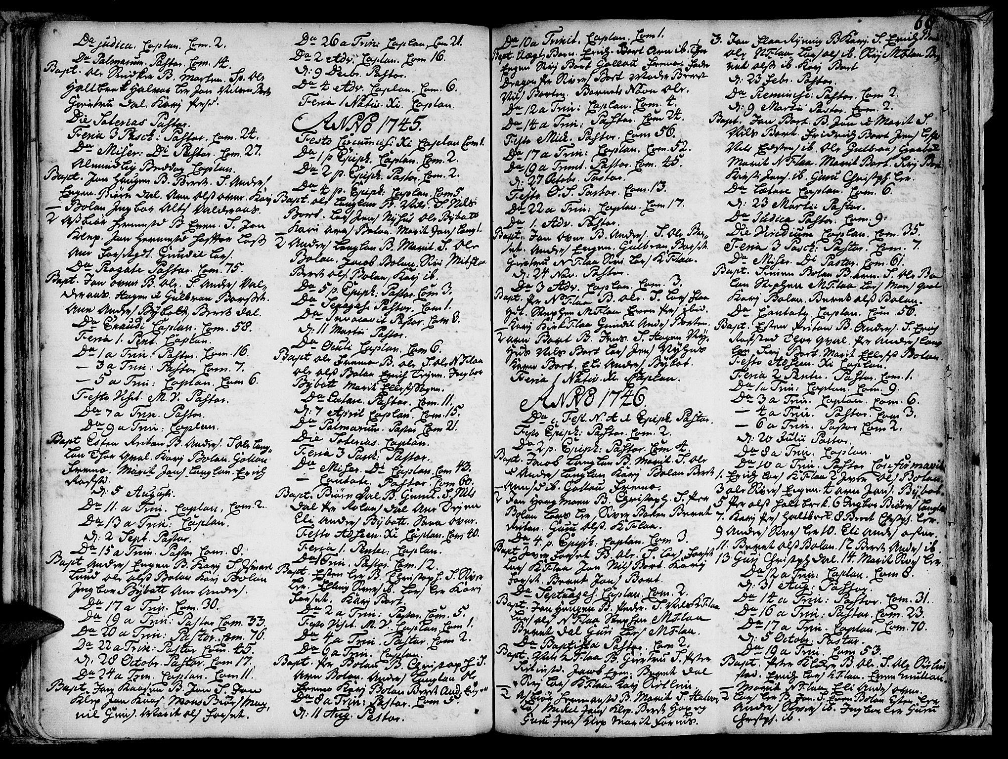 SAT, Ministerialprotokoller, klokkerbøker og fødselsregistre - Sør-Trøndelag, 691/L1058: Ministerialbok nr. 691A01 /2, 1740-1767, s. 68