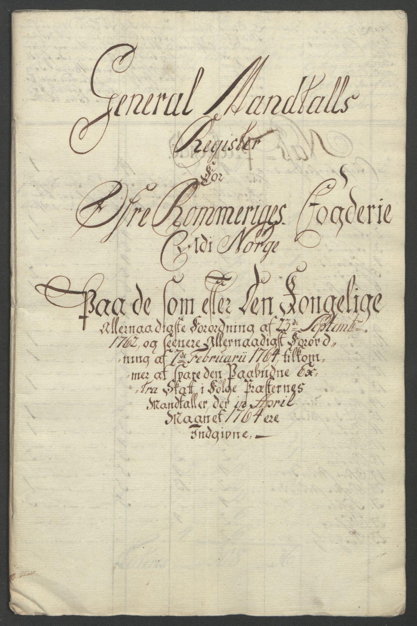 RA, Rentekammeret inntil 1814, Reviderte regnskaper, Fogderegnskap, R12/L0804: Ekstraskatten Øvre Romerike, 1764, s. 246