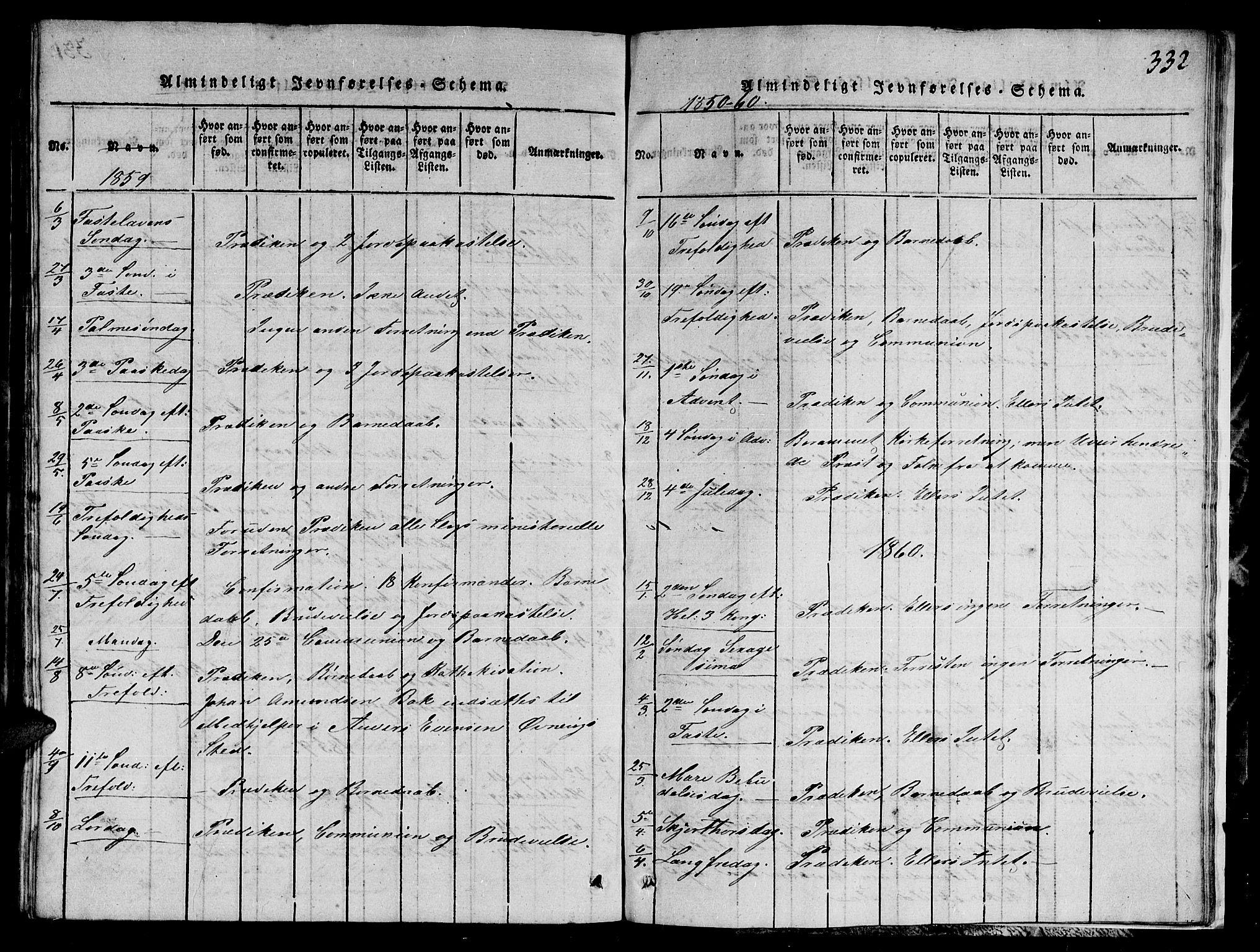 SAT, Ministerialprotokoller, klokkerbøker og fødselsregistre - Nord-Trøndelag, 780/L0648: Klokkerbok nr. 780C01 /1, 1815-1870, s. 332