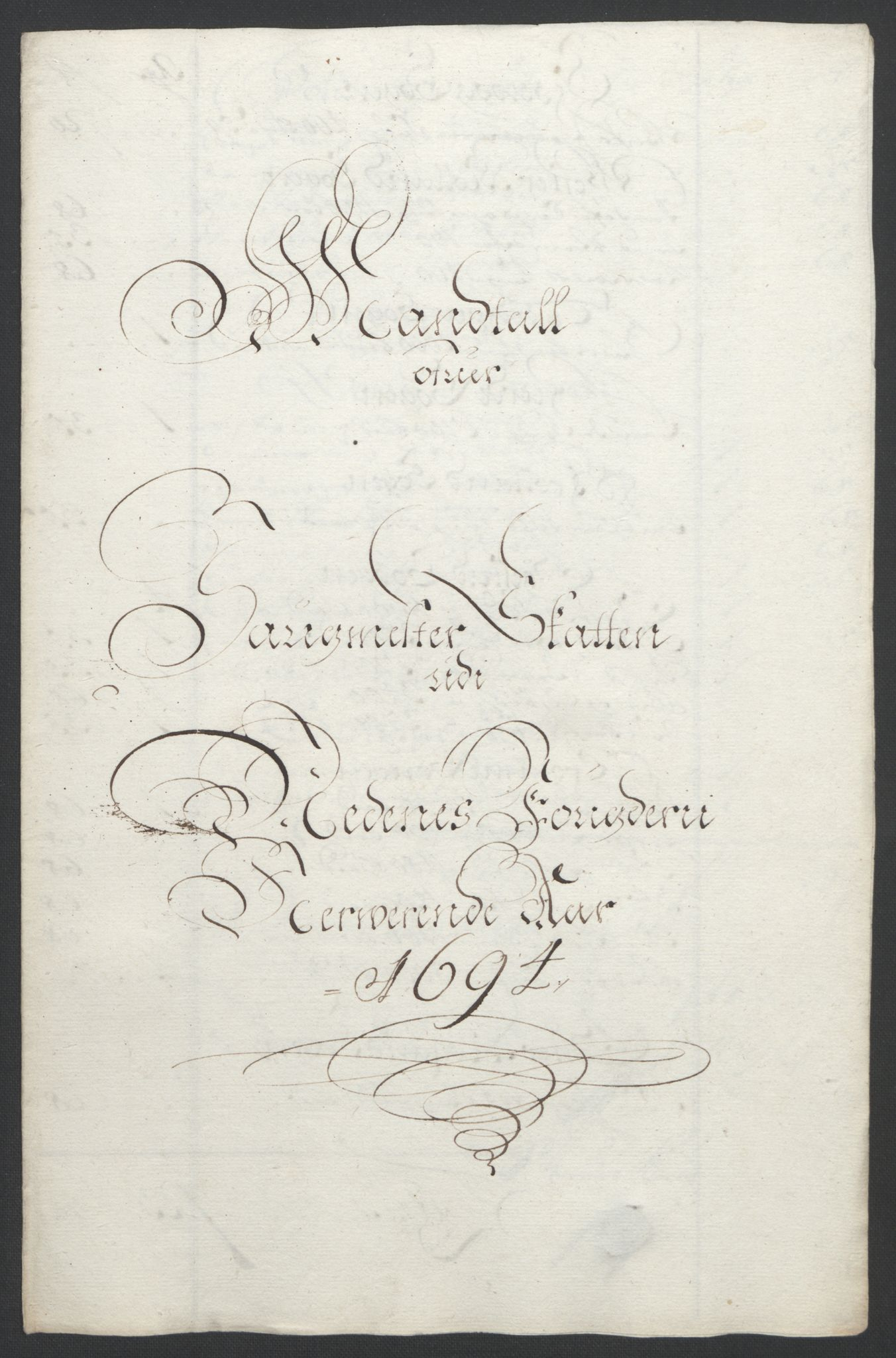 RA, Rentekammeret inntil 1814, Reviderte regnskaper, Fogderegnskap, R39/L2312: Fogderegnskap Nedenes, 1693-1695, s. 142