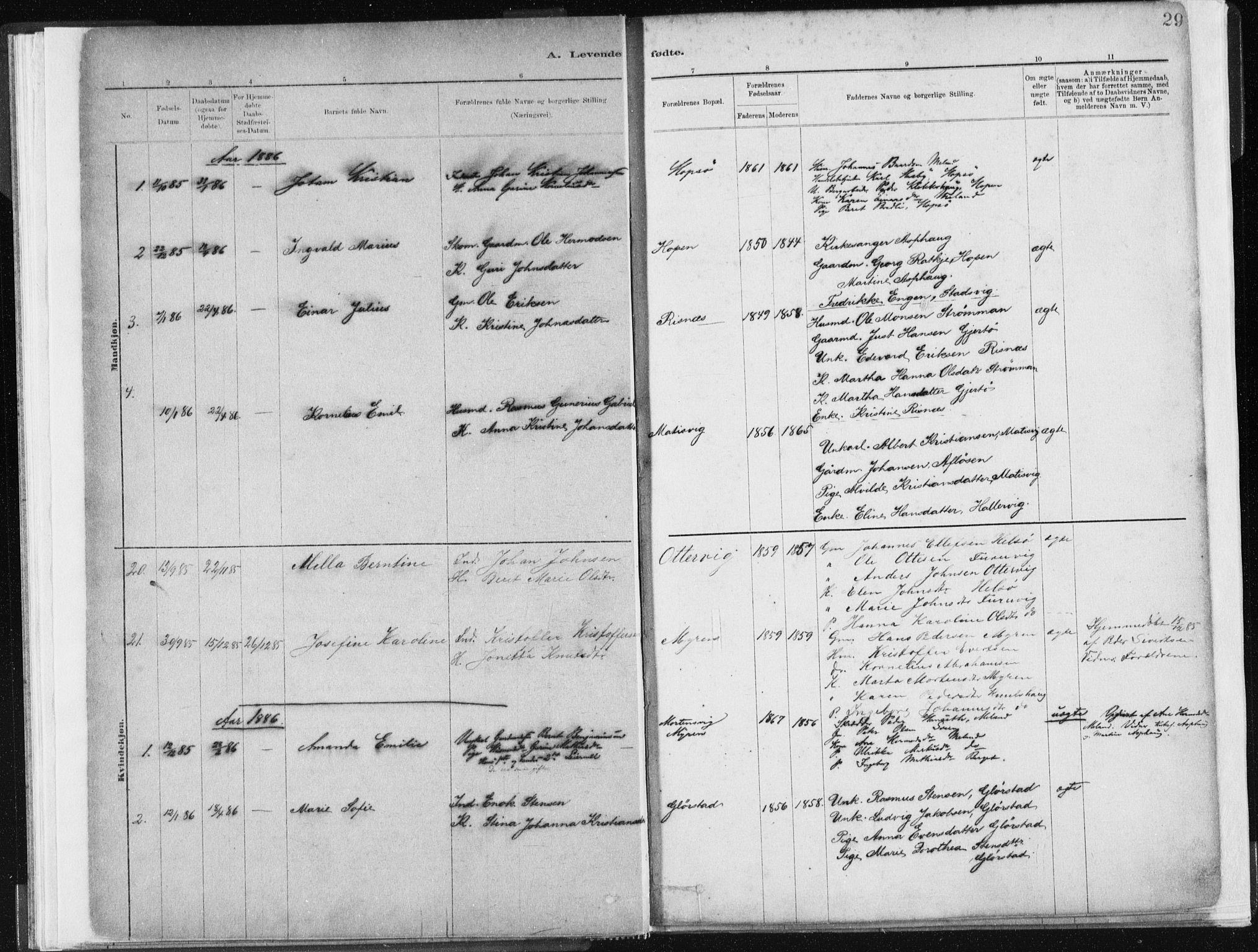 SAT, Ministerialprotokoller, klokkerbøker og fødselsregistre - Sør-Trøndelag, 634/L0533: Ministerialbok nr. 634A09, 1882-1901, s. 29