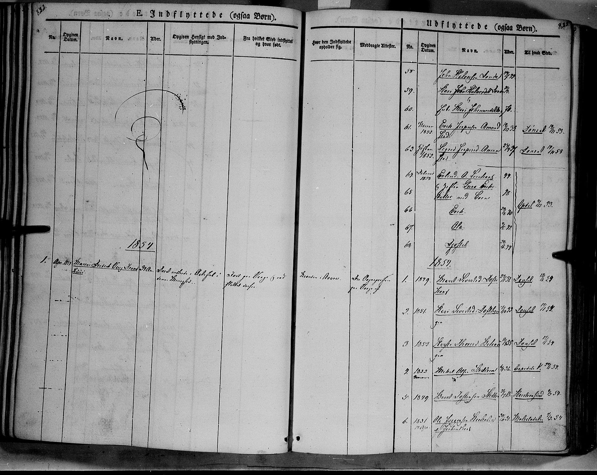 SAH, Lesja prestekontor, Ministerialbok nr. 6B, 1843-1854, s. 822-823