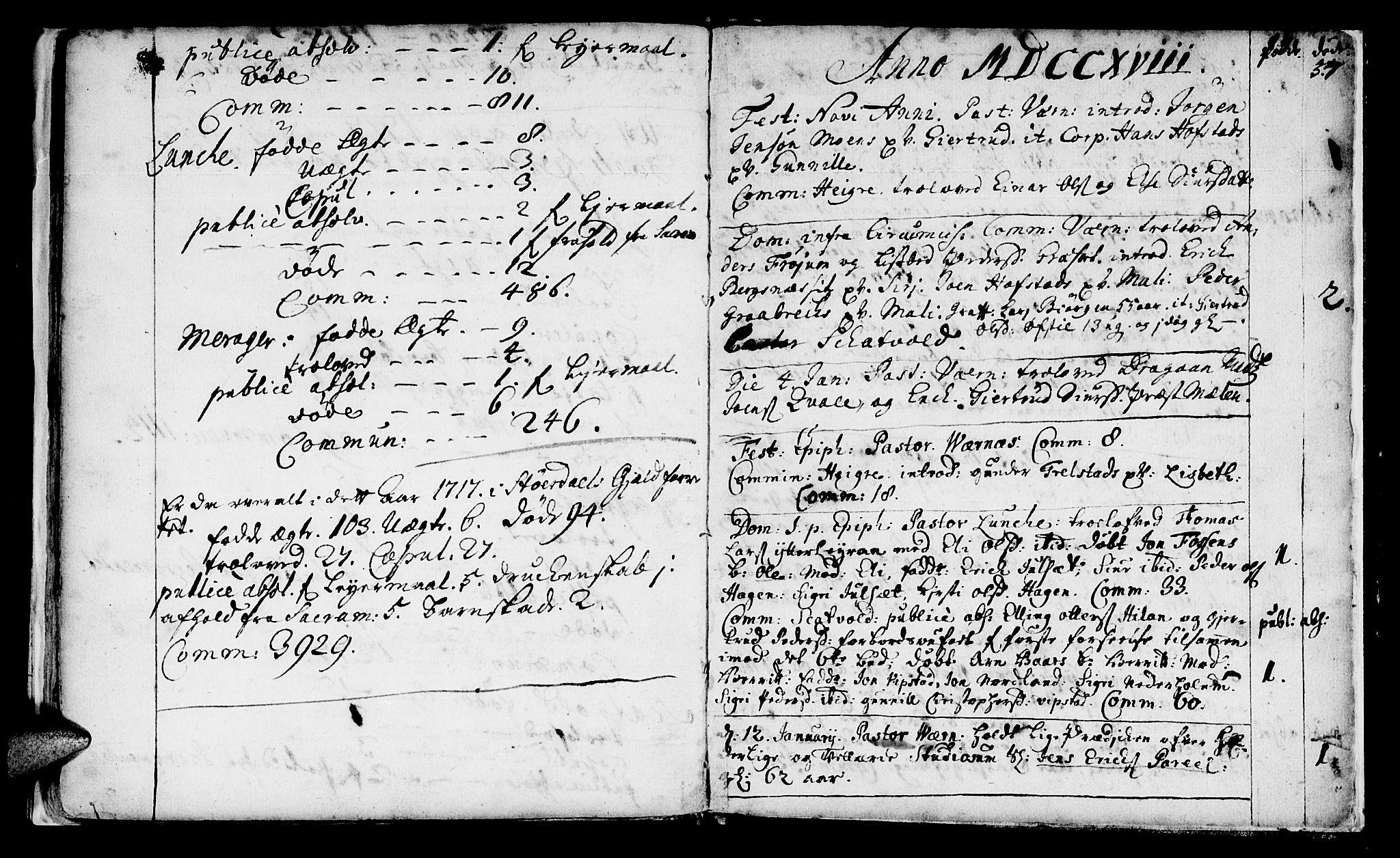 SAT, Ministerialprotokoller, klokkerbøker og fødselsregistre - Nord-Trøndelag, 709/L0054: Ministerialbok nr. 709A02, 1714-1738, s. 57