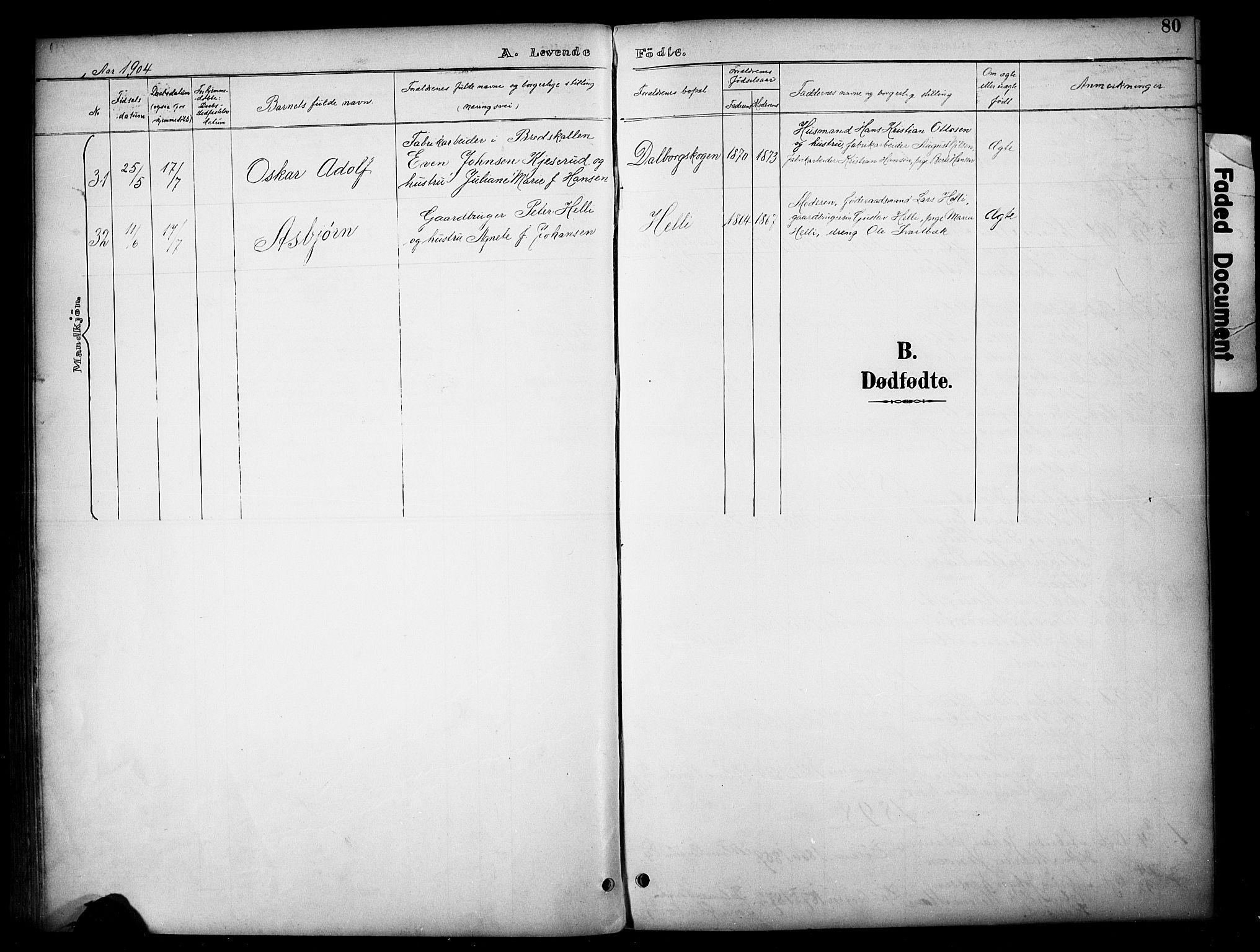 SAH, Vardal prestekontor, H/Ha/Haa/L0012: Ministerialbok nr. 12, 1893-1904, s. 80