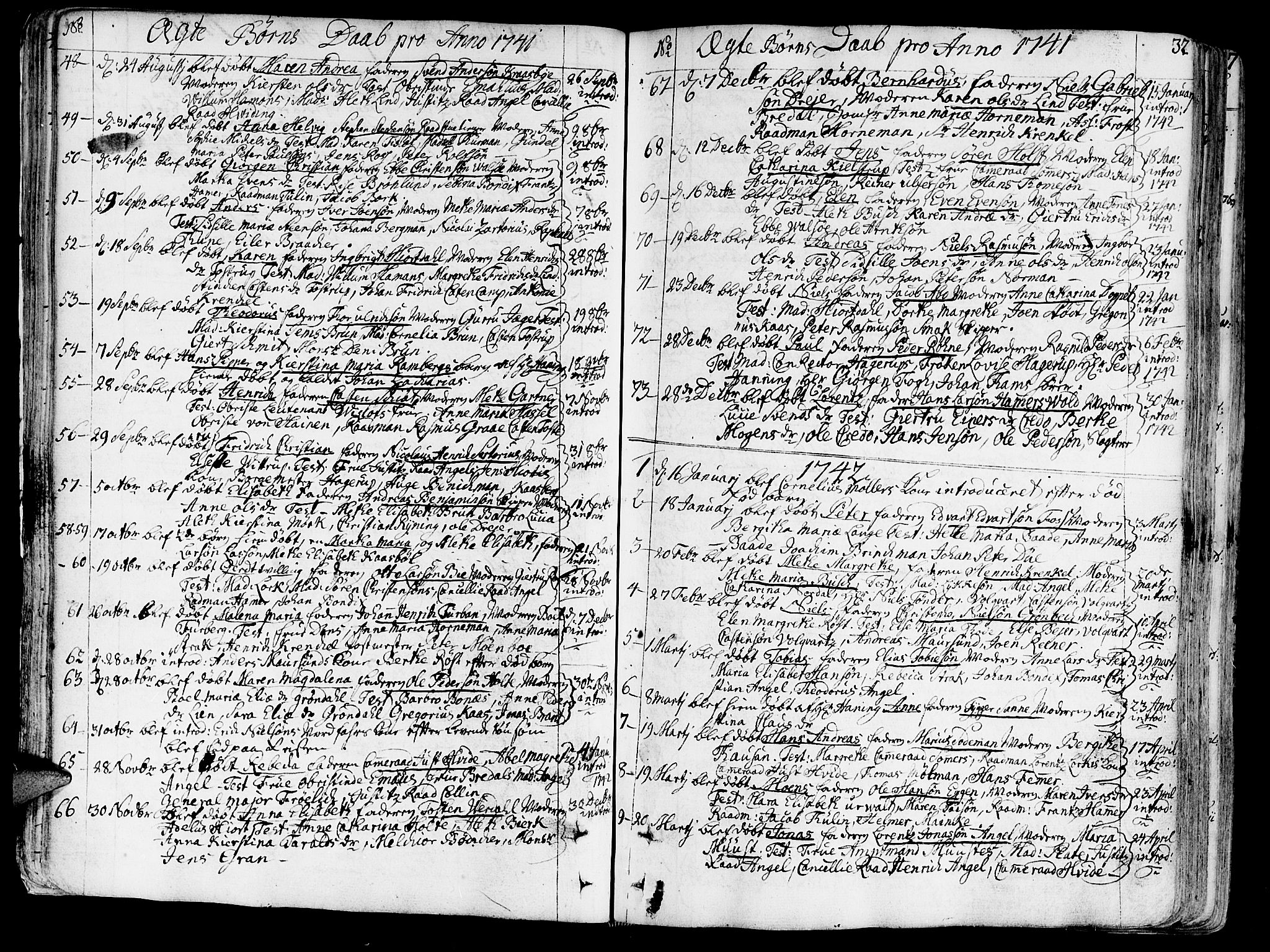 SAT, Ministerialprotokoller, klokkerbøker og fødselsregistre - Sør-Trøndelag, 602/L0103: Ministerialbok nr. 602A01, 1732-1774, s. 32