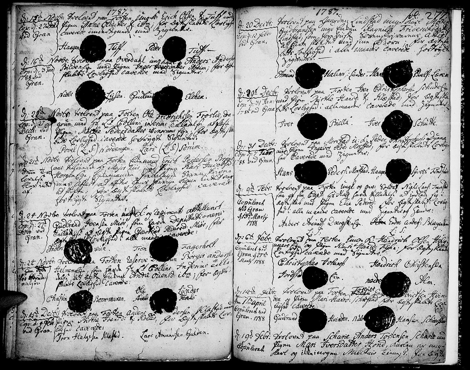 SAH, Gran prestekontor, Ministerialbok nr. 5, 1776-1788, s. 277