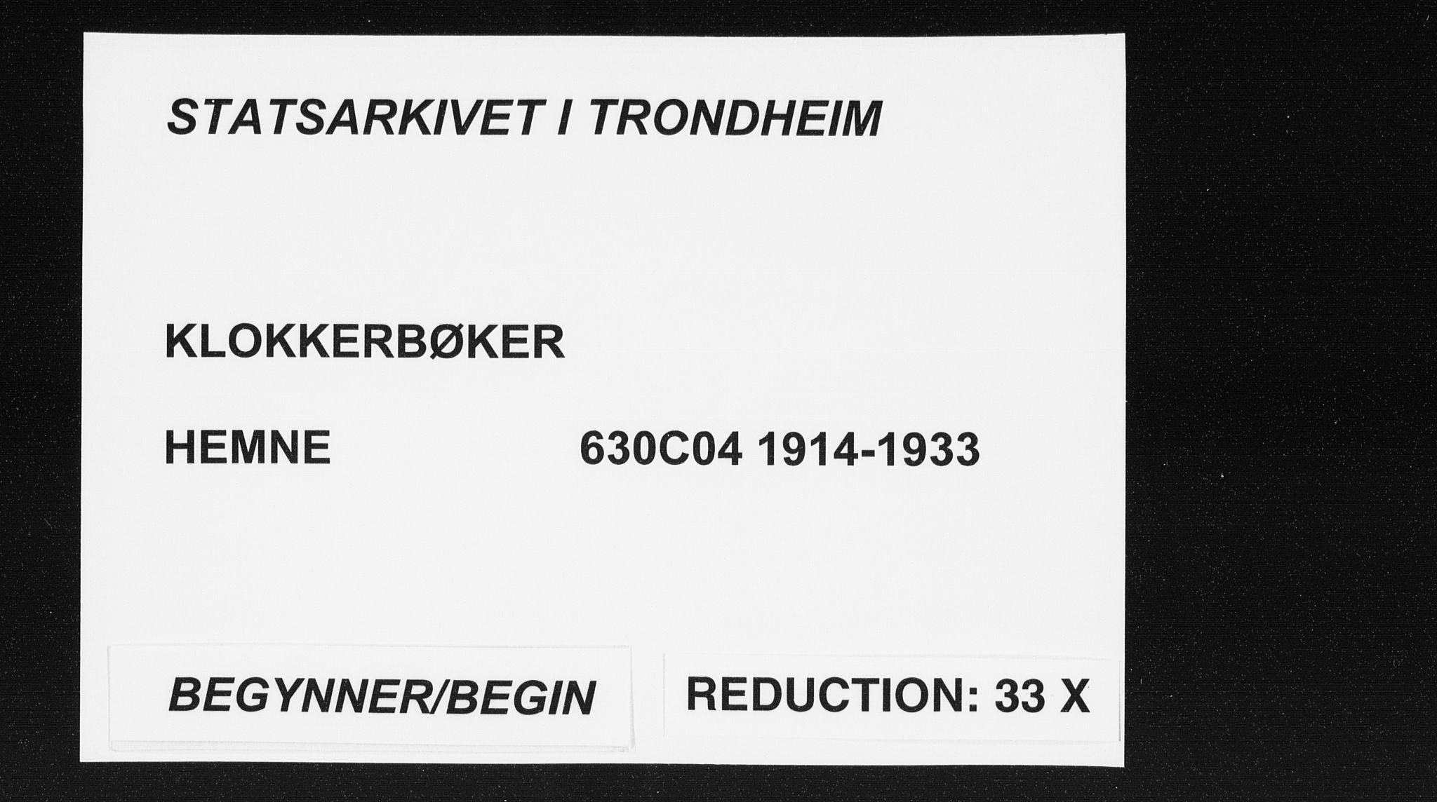 SAT, Ministerialprotokoller, klokkerbøker og fødselsregistre - Sør-Trøndelag, 630/L0506: Klokkerbok nr. 630C04, 1914-1933