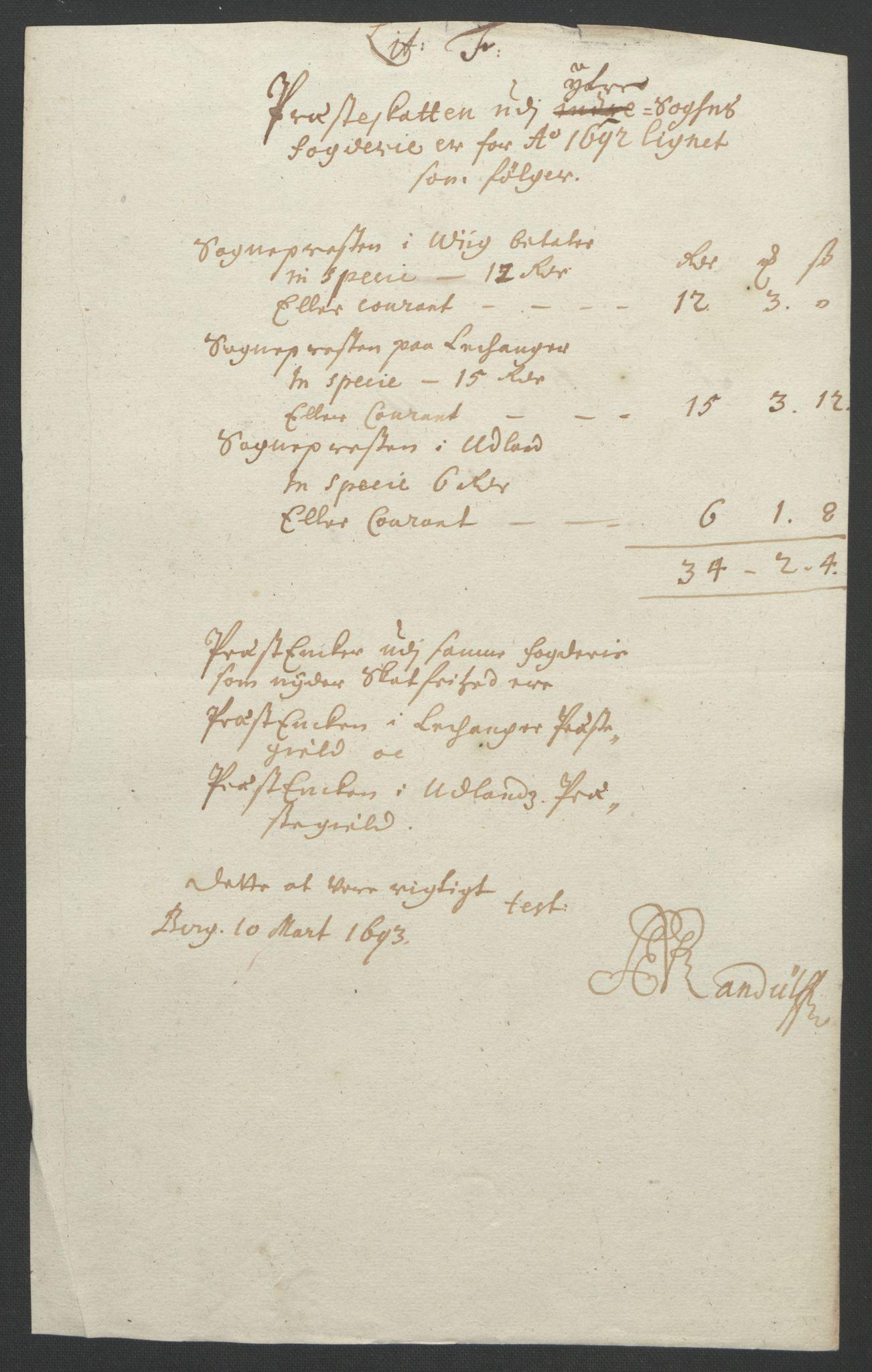 RA, Rentekammeret inntil 1814, Reviderte regnskaper, Fogderegnskap, R52/L3306: Fogderegnskap Sogn, 1691-1692, s. 356