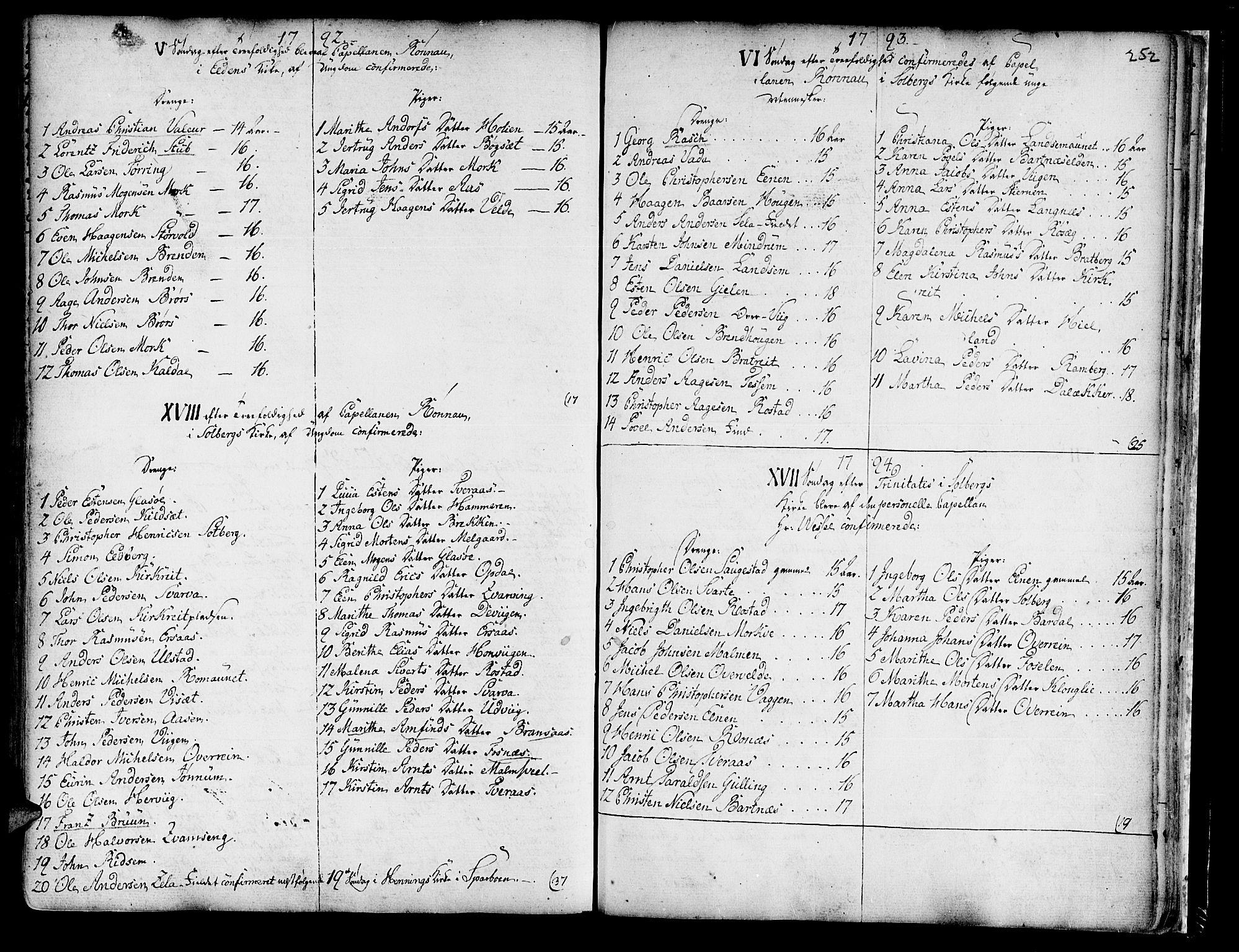 SAT, Ministerialprotokoller, klokkerbøker og fødselsregistre - Nord-Trøndelag, 741/L0385: Ministerialbok nr. 741A01, 1722-1815, s. 252
