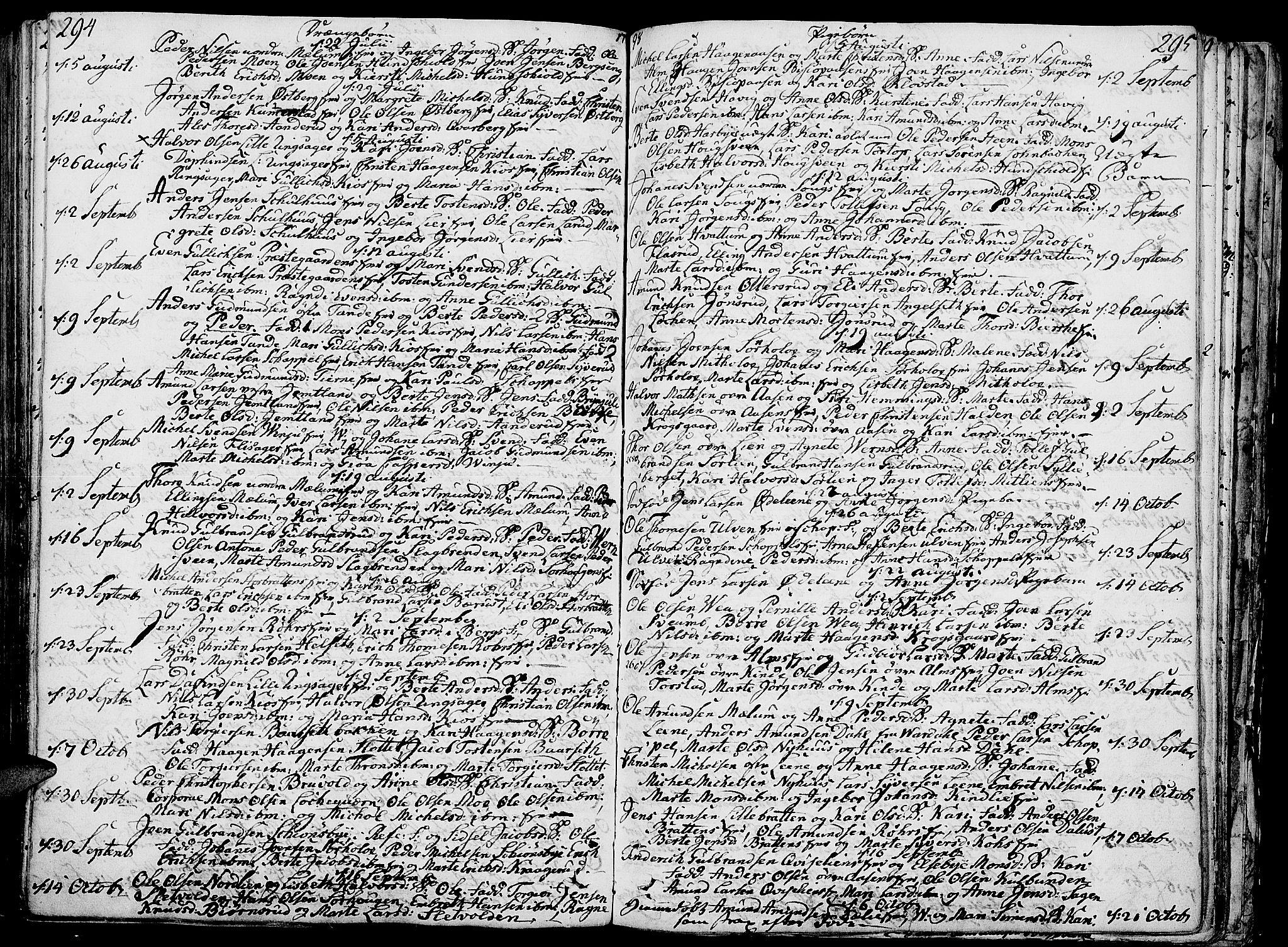 SAH, Ringsaker prestekontor, K/Ka/L0003: Ministerialbok nr. 3, 1775-1798, s. 294-295