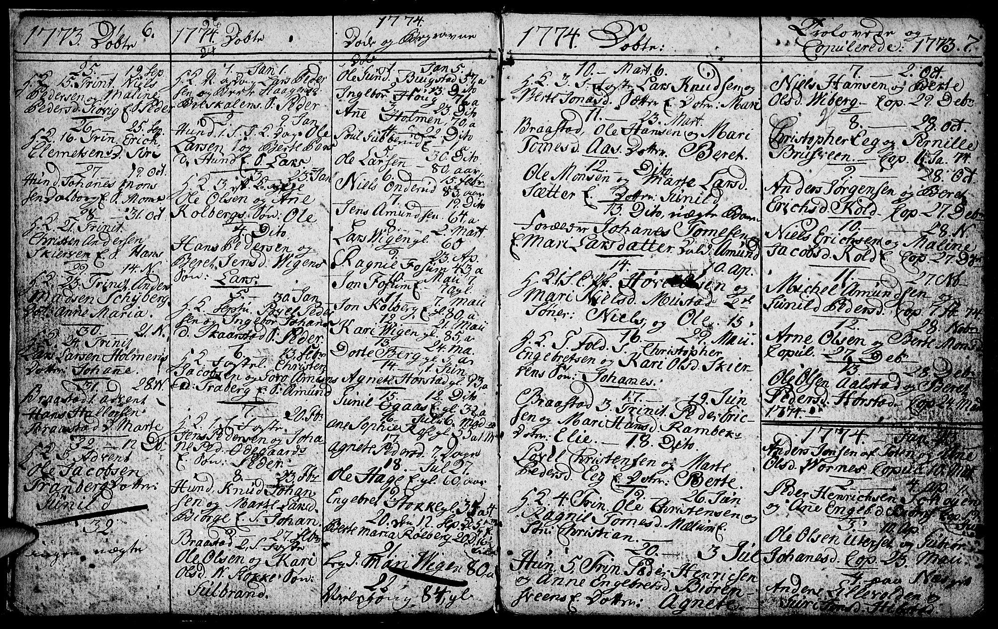 SAH, Vardal prestekontor, H/Ha/Hab/L0001: Klokkerbok nr. 1, 1771-1790, s. 6-7