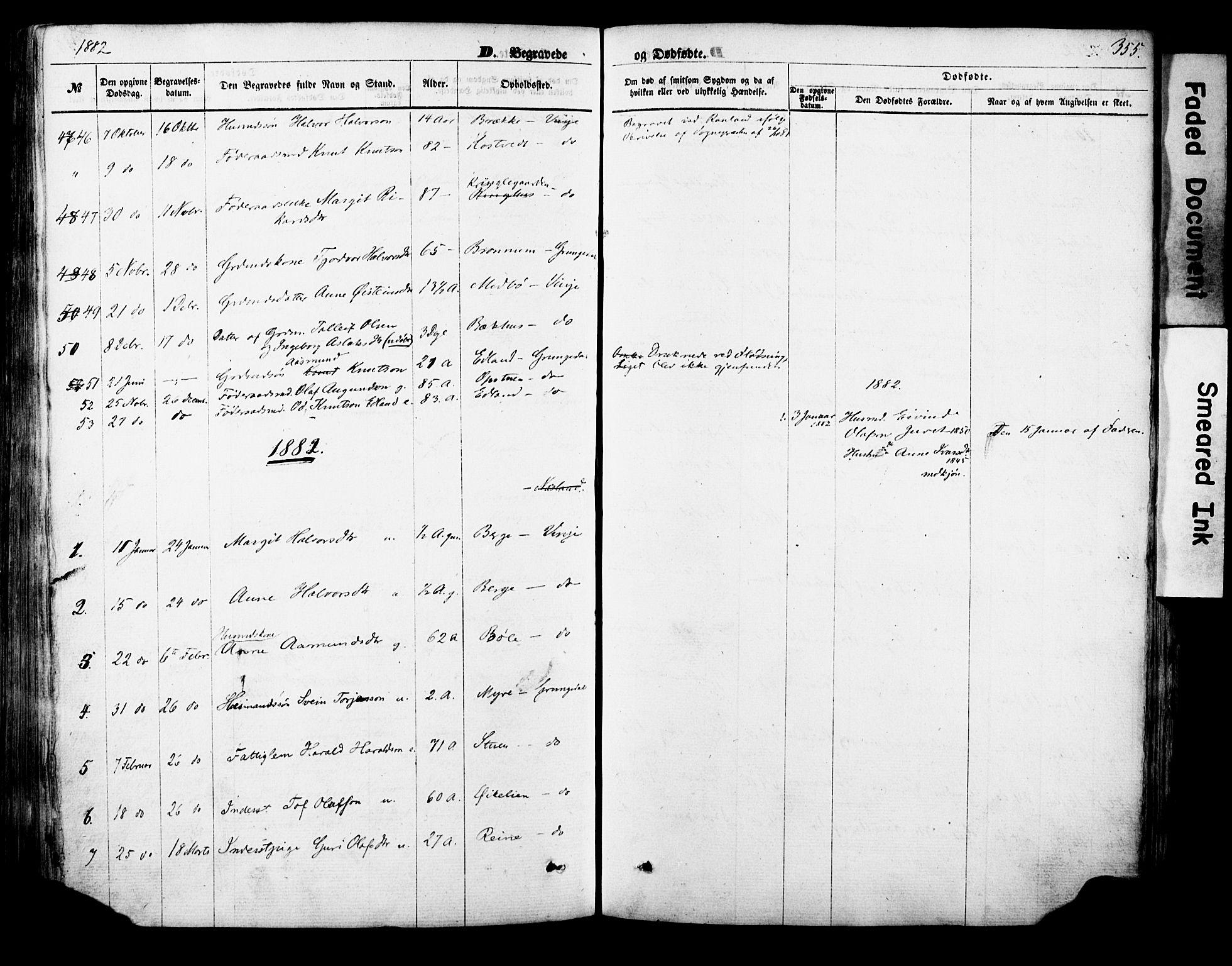 SAKO, Vinje kirkebøker, F/Fa/L0005: Ministerialbok nr. I 5, 1870-1886, s. 355
