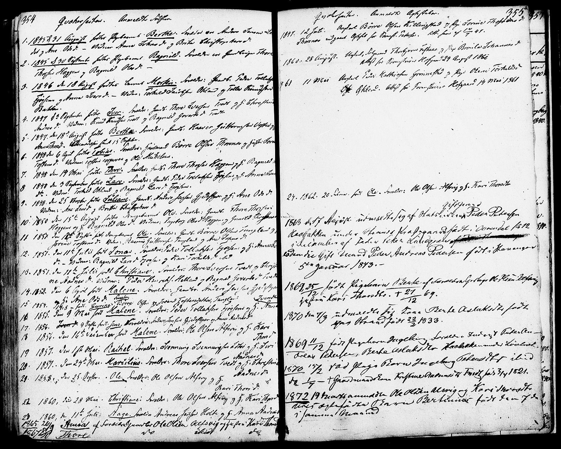 SAST, Strand sokneprestkontor, H/Ha/Haa/L0006: Ministerialbok nr. A 6, 1834-1854, s. 354-355