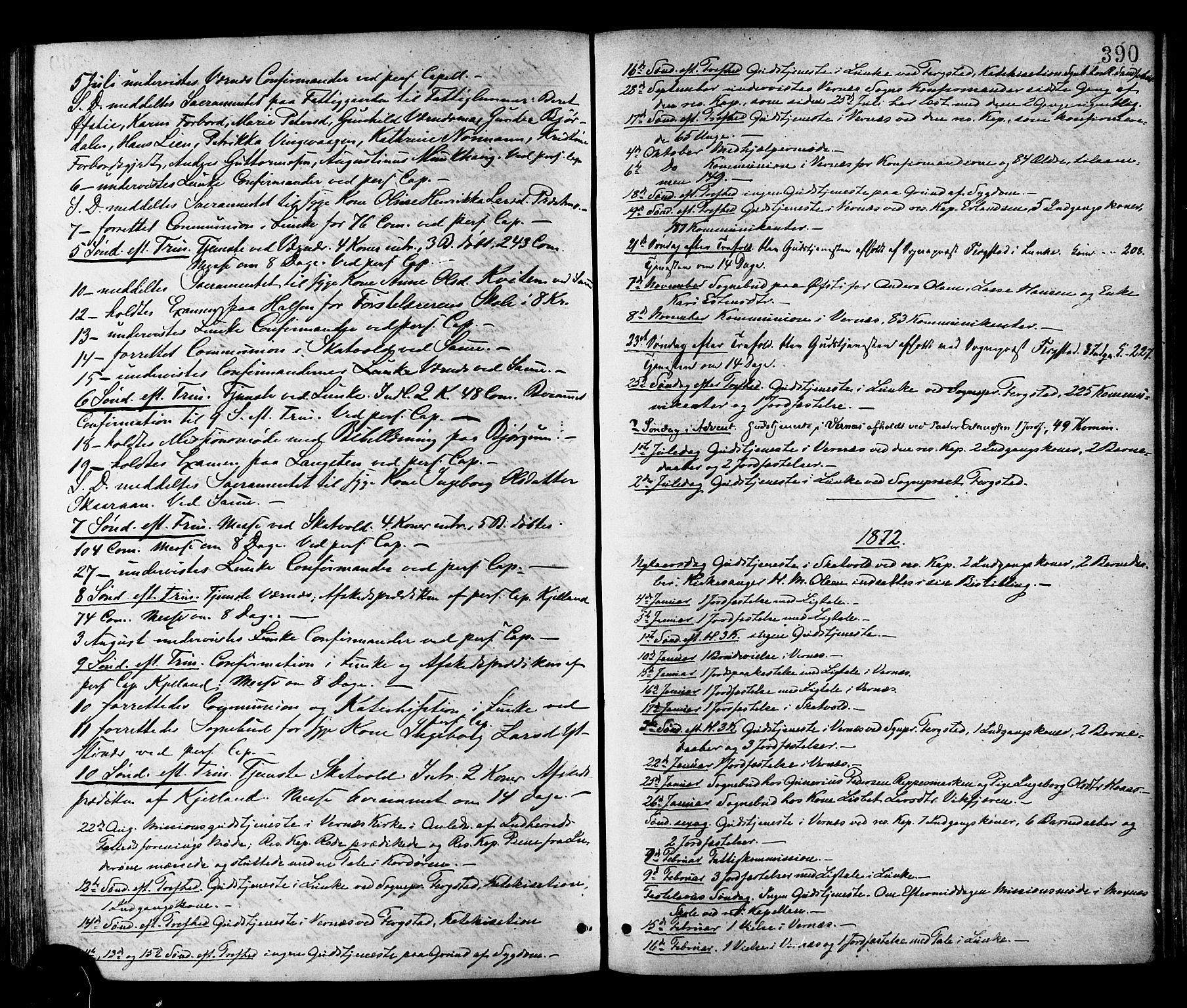 SAT, Ministerialprotokoller, klokkerbøker og fødselsregistre - Nord-Trøndelag, 709/L0076: Ministerialbok nr. 709A16, 1871-1879, s. 390