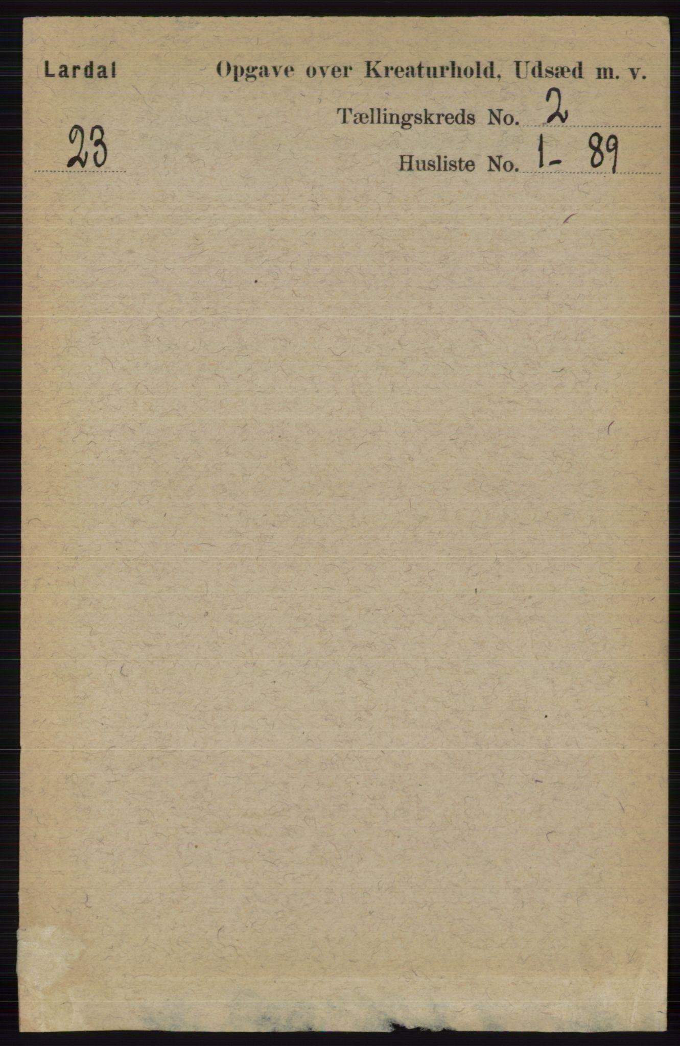 RA, Folketelling 1891 for 0728 Lardal herred, 1891, s. 3419
