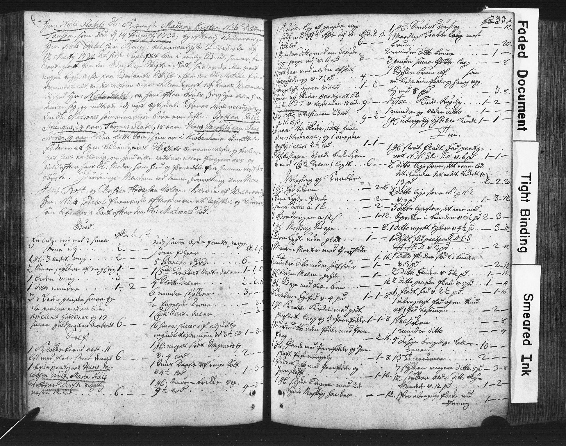 SAKO, Nedre Telemark og Bamble prosti, O/Ob/L0002: Skifteprotokoll, 1716-1759, s. 230